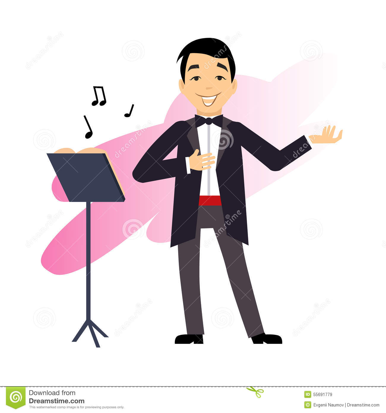 Male Opera Singer stock illustration. Illustration of clip ...