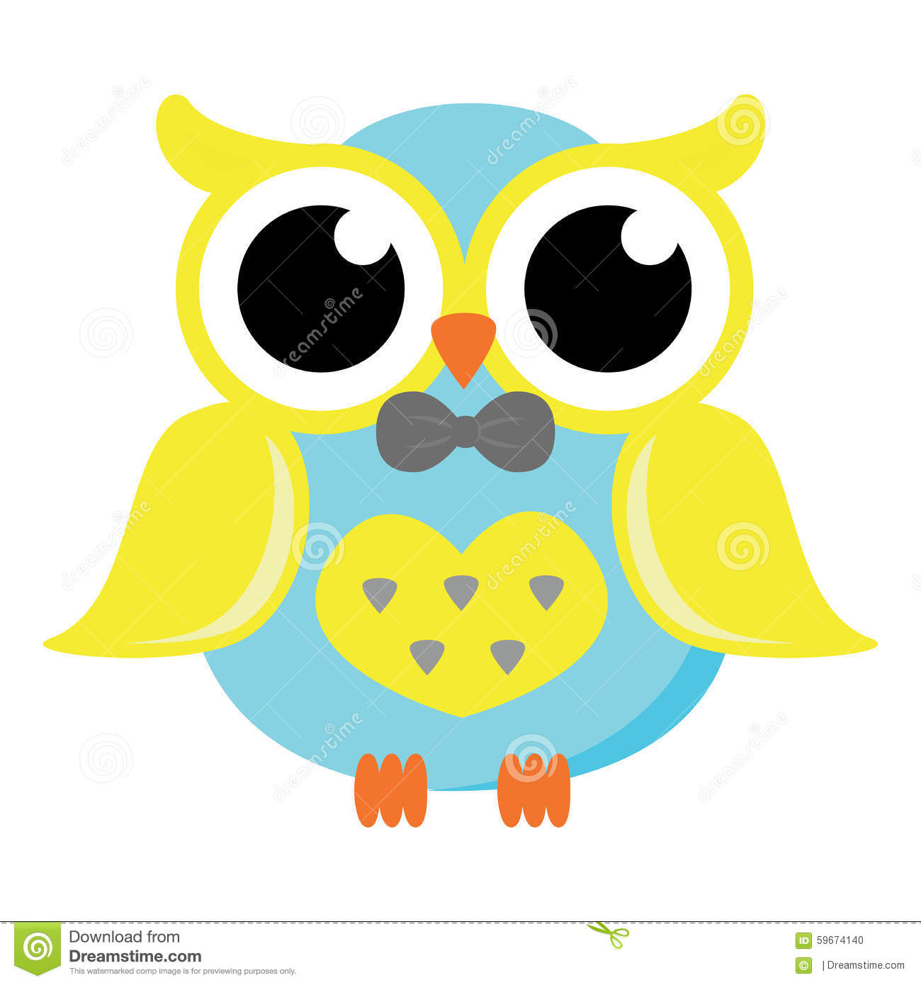 Male Owl With Bow Tie Vector Stock Illustration Image