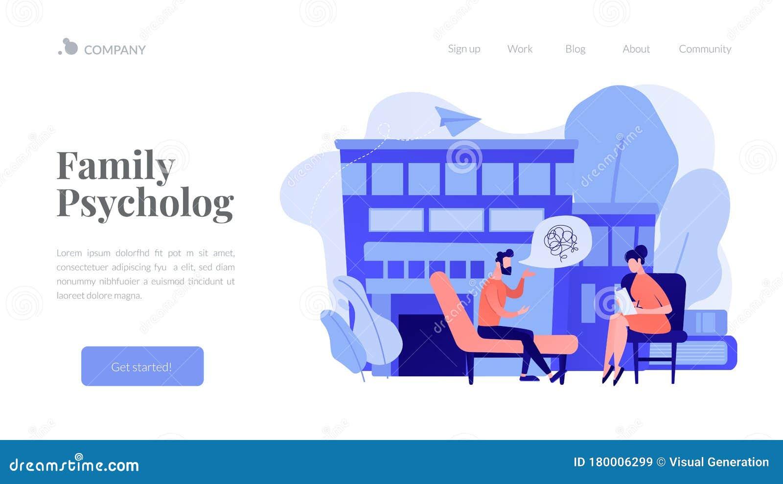 Psychologist Service Concept Landing Page. Stock Vector ...