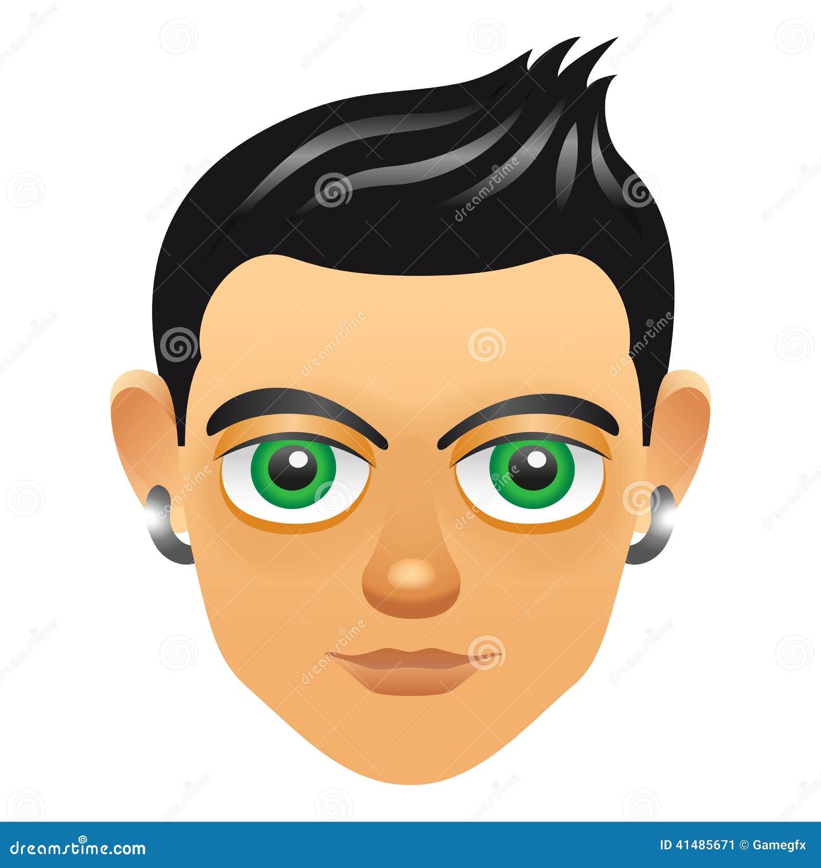 Boy Avatar: Male Portrait Avatar Icon With Boy Face Stock Vector