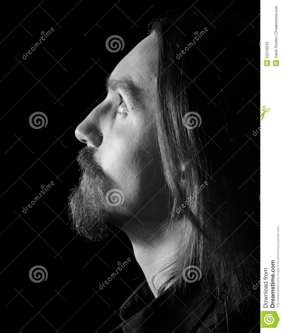 Male Profile Black And White Stock Photography Image