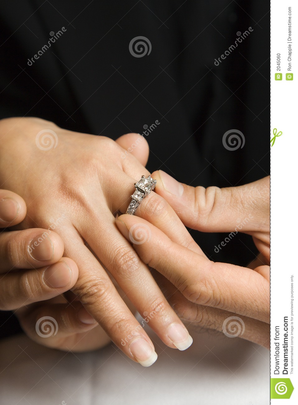 Female Engagement Ring Hand