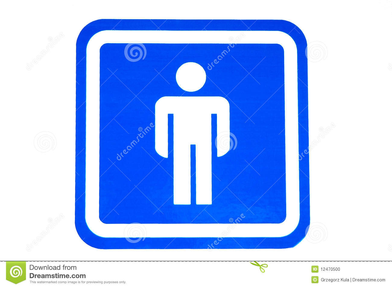 Male Restroom Sign Stock Photo - Image: 12470500