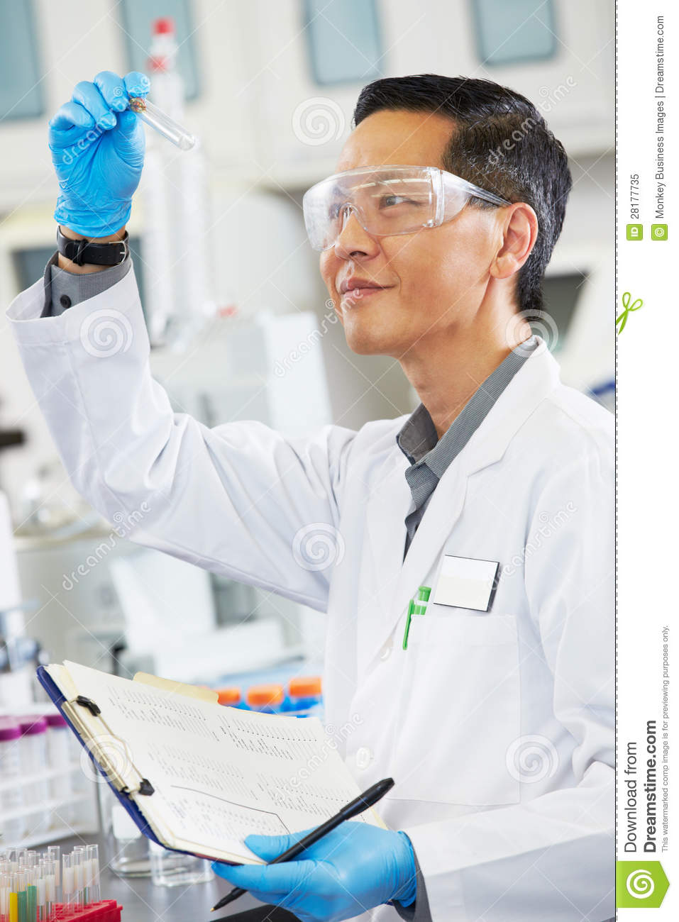 scientist working male laboratory tube test holding dreamstime royalty