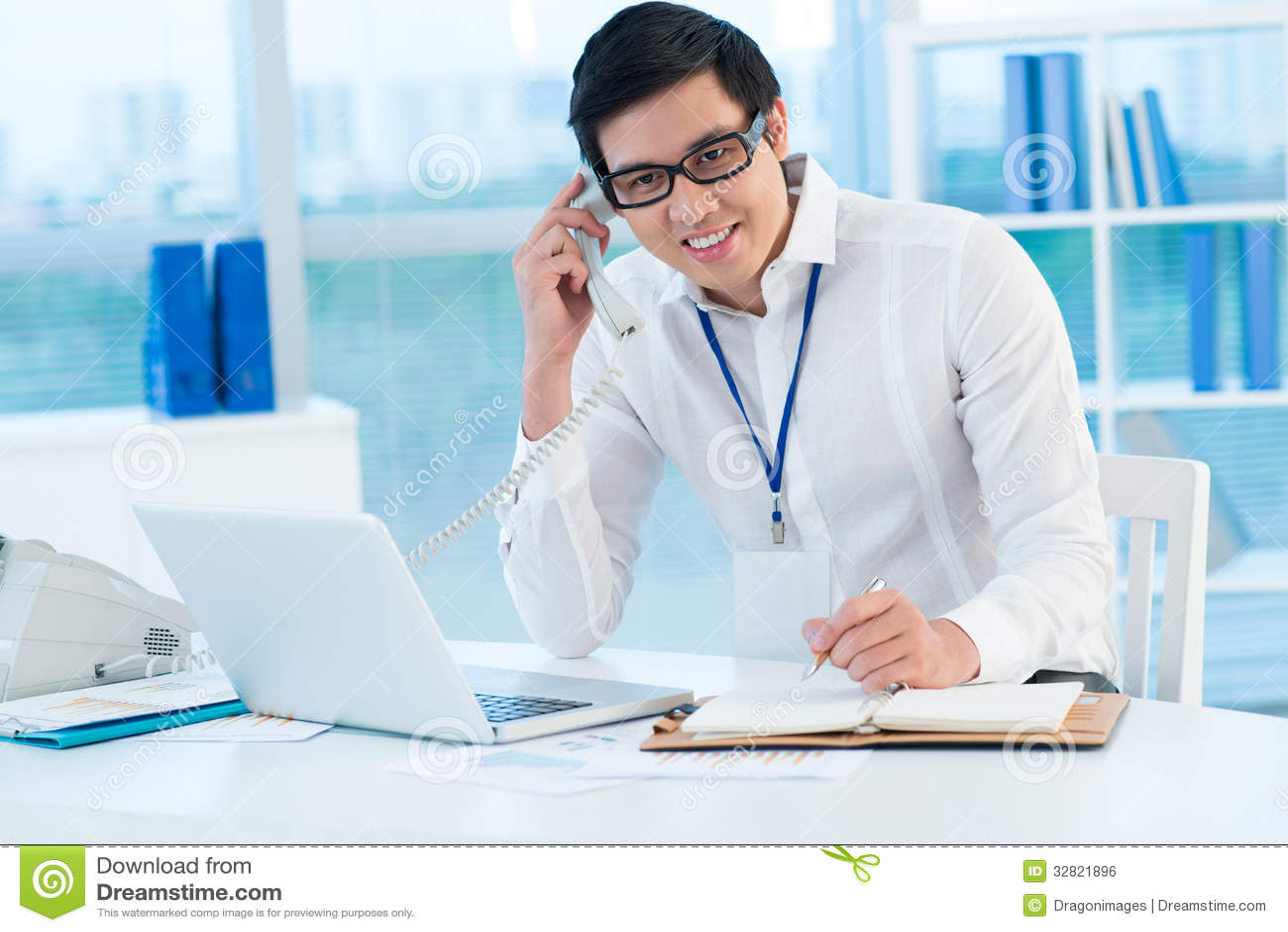 Male Secretary Stock Photo Image Of Consultant