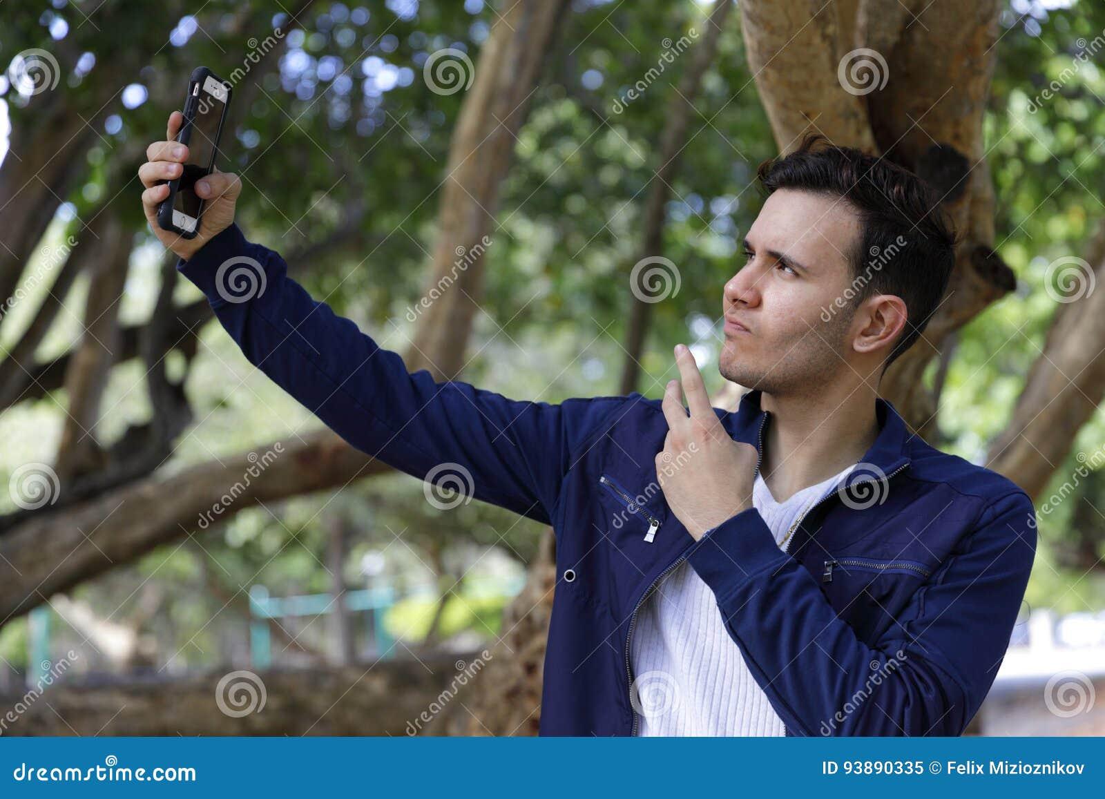 Male selfie poses
