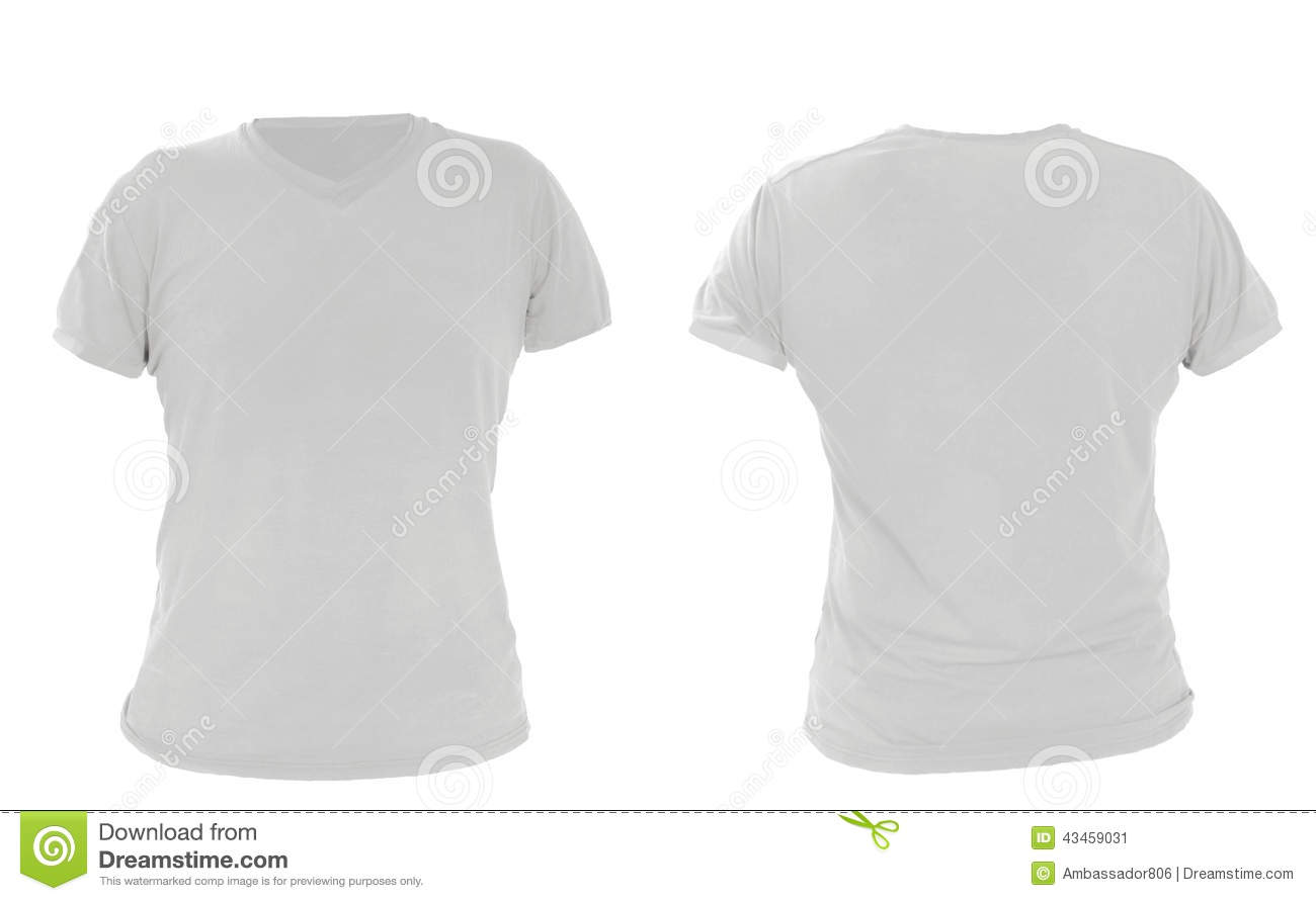 White t shirt front and back template - Male Shirt Template Gray Front And Back Design