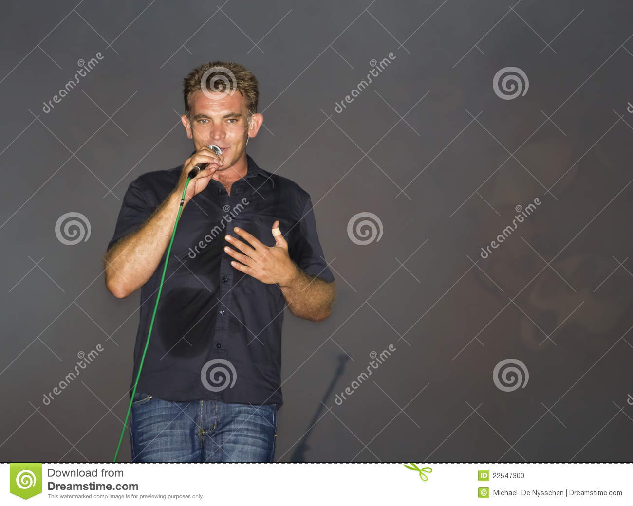 Male Singer/musician On Stage Editorial Image - Image ...
