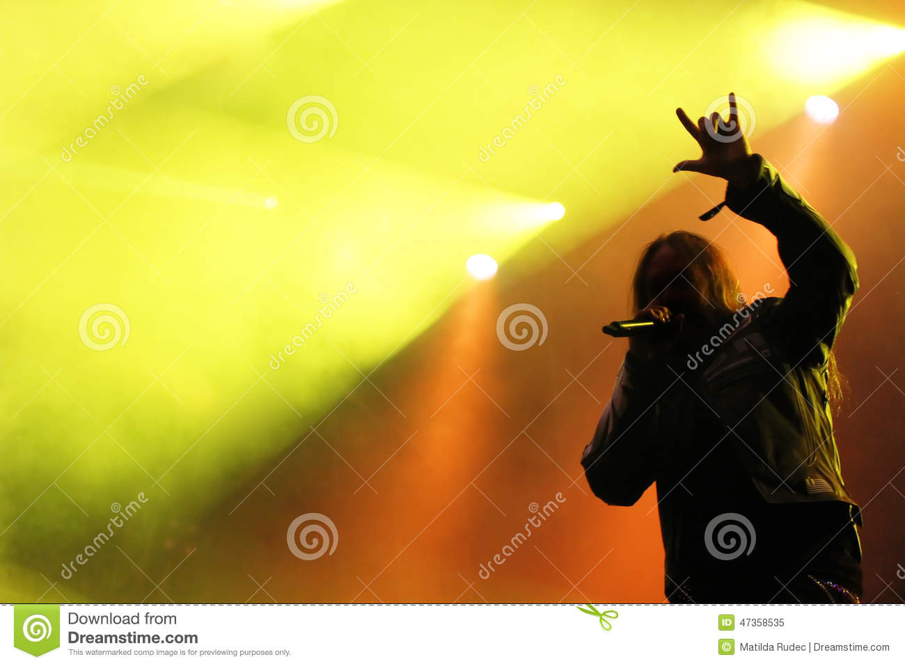 Male Singer Silhouette Heavy Metal Concert Editorial Image ...