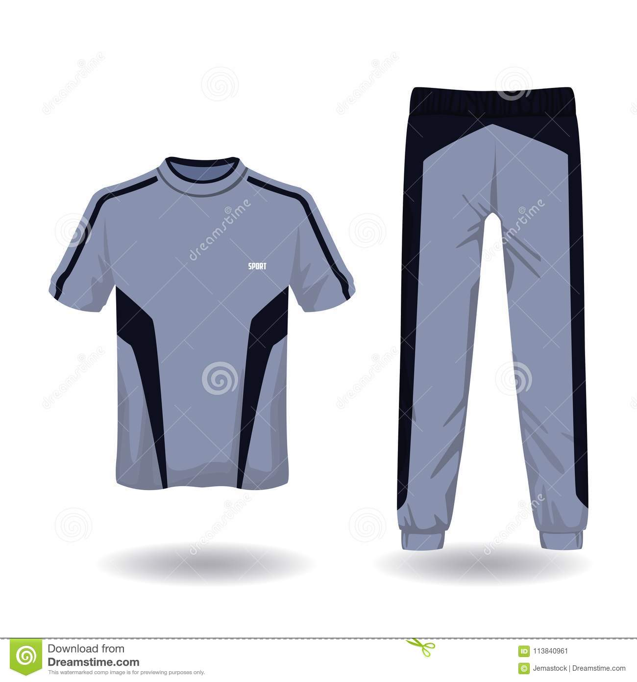 1a8ecb46 Tshirt and pants sport wear for male vector illustration graphic design