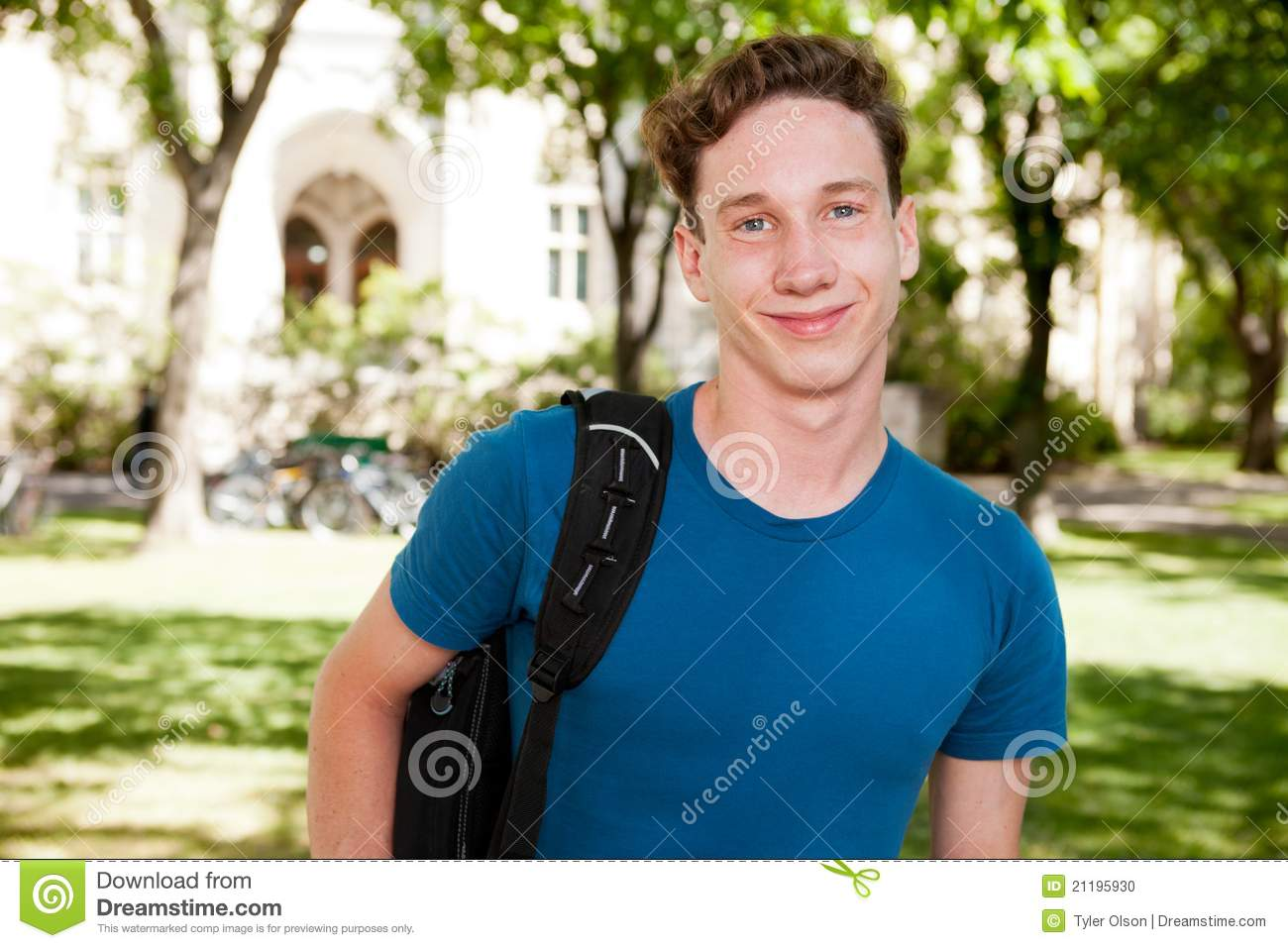 Male Student on Campus