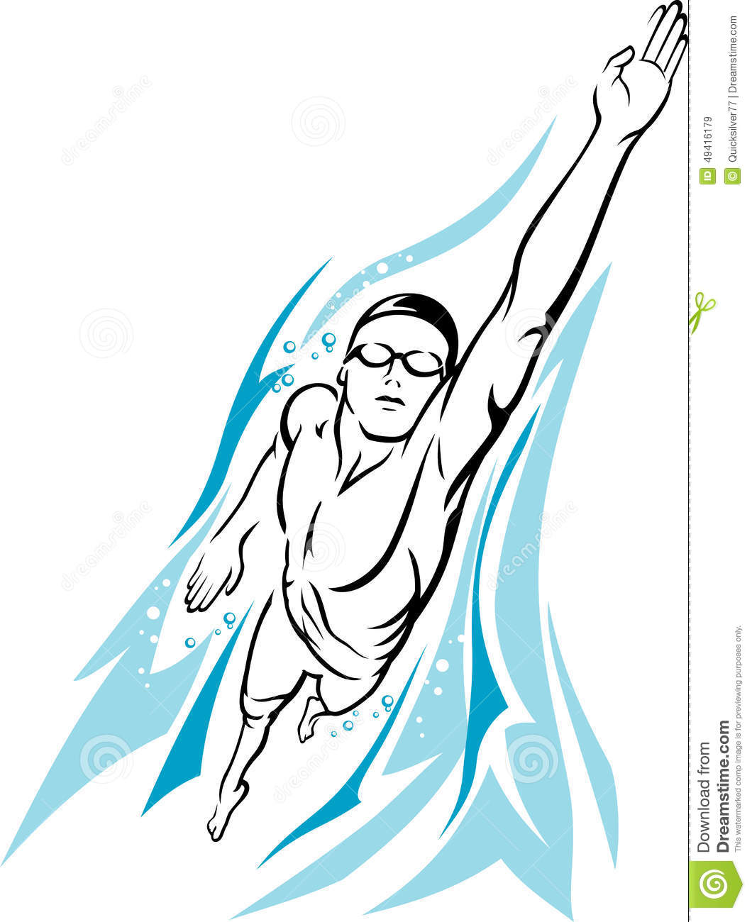 Swimmer Freestyle Clipart