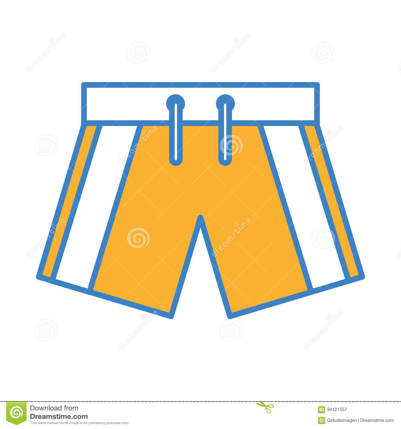 Male Swimwear Isolated Icon Stock Vector Illustration Of Swimsuit