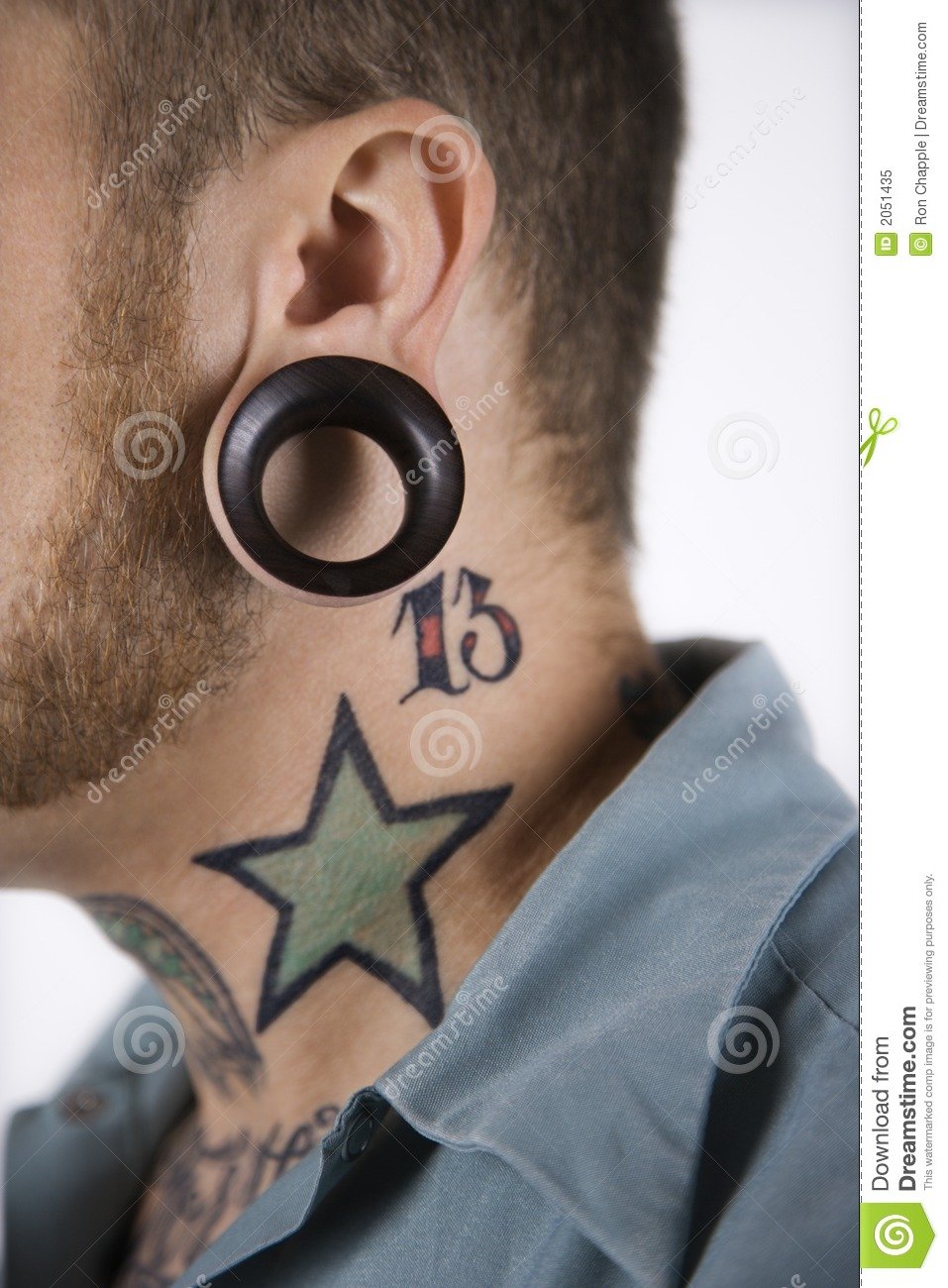 Male with tattoos and piercing stock image image 2051435 for Tattoos and piercing