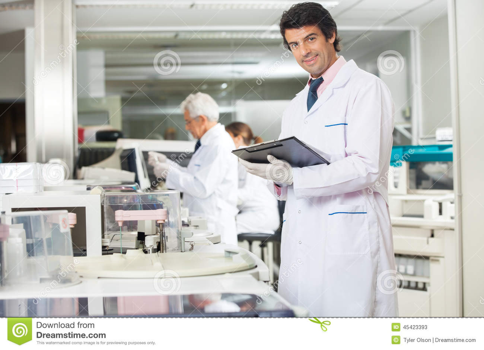 Male Technician With Clipboard