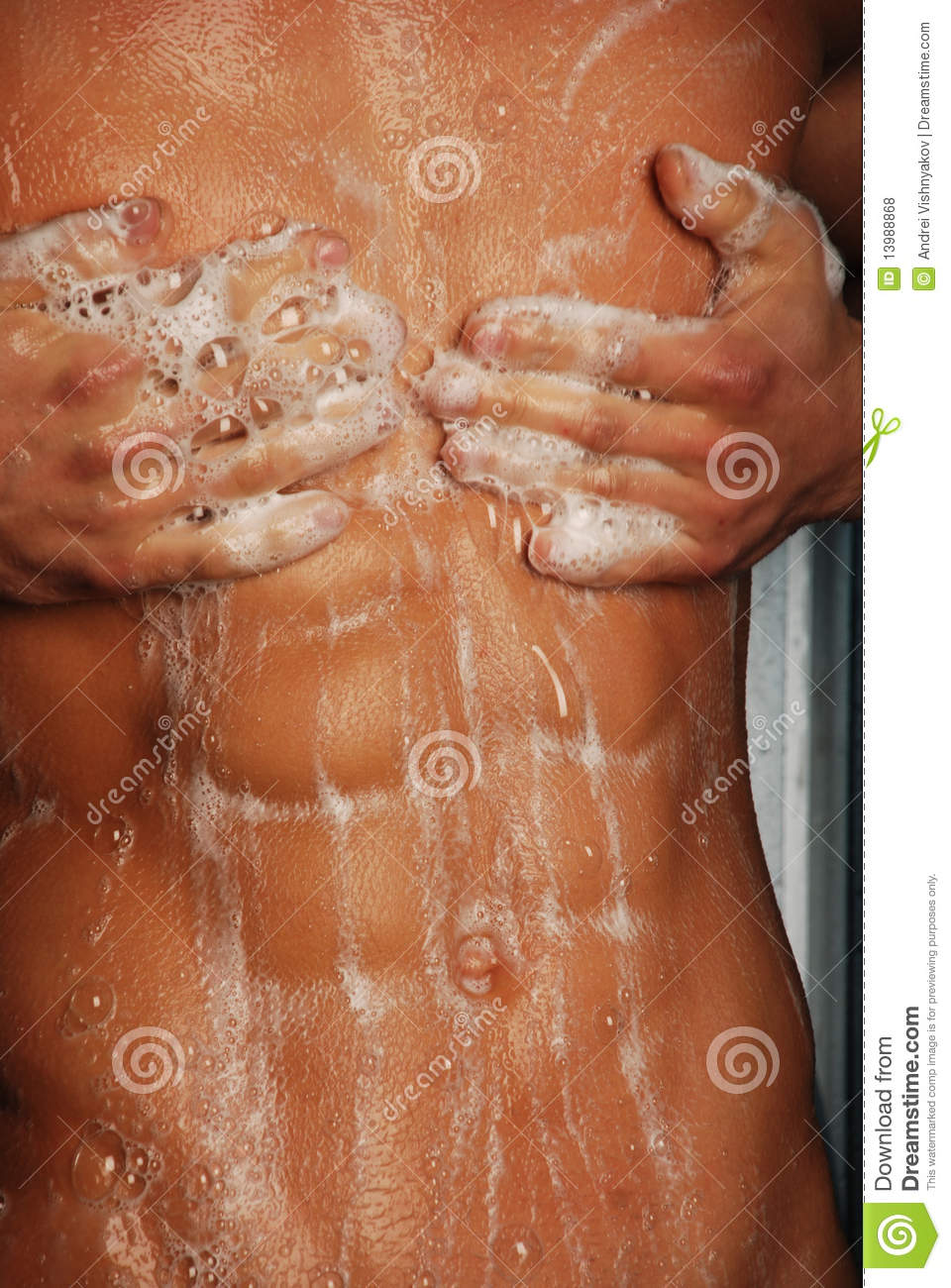 By Trained Man With Sixpack Stock Image - Image of healthy