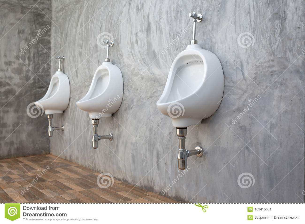 Male urinal sanitary ware in office modern loft