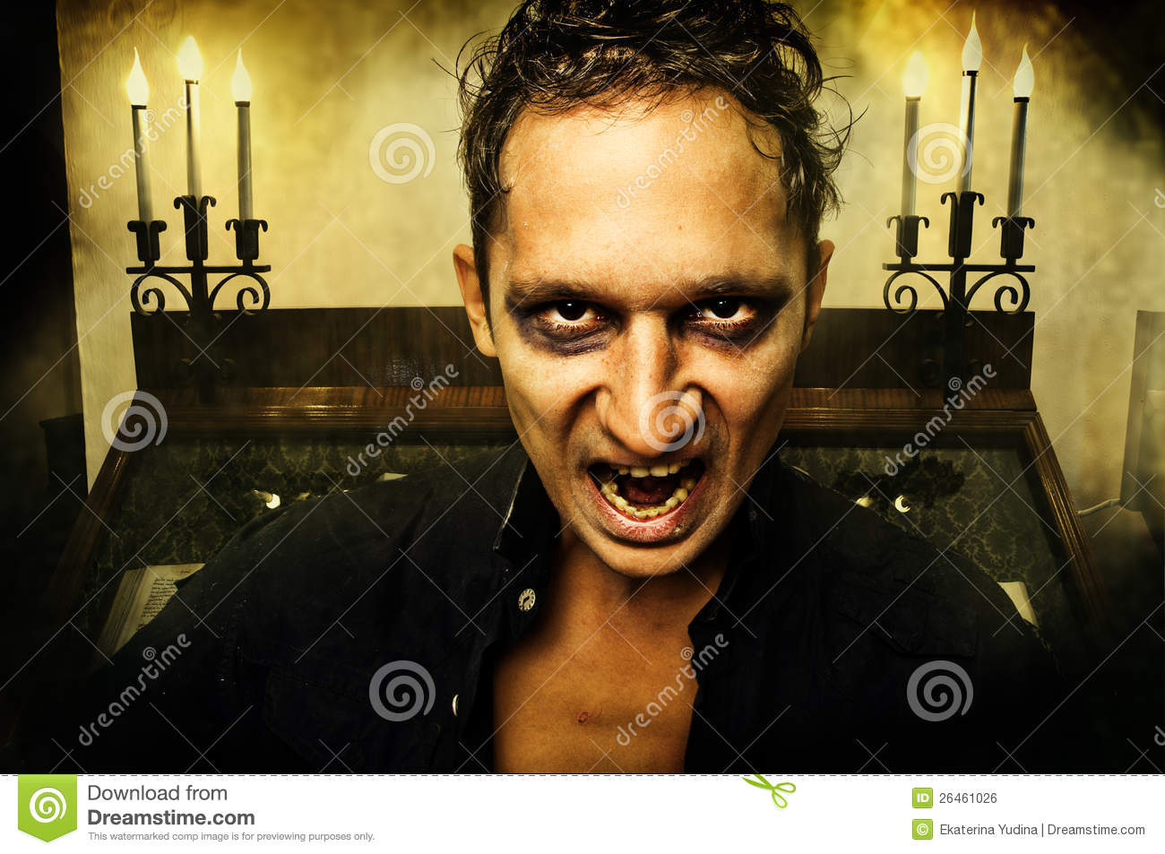 Male Vampire With Evil Eyes Royalty Free Stock Image ...