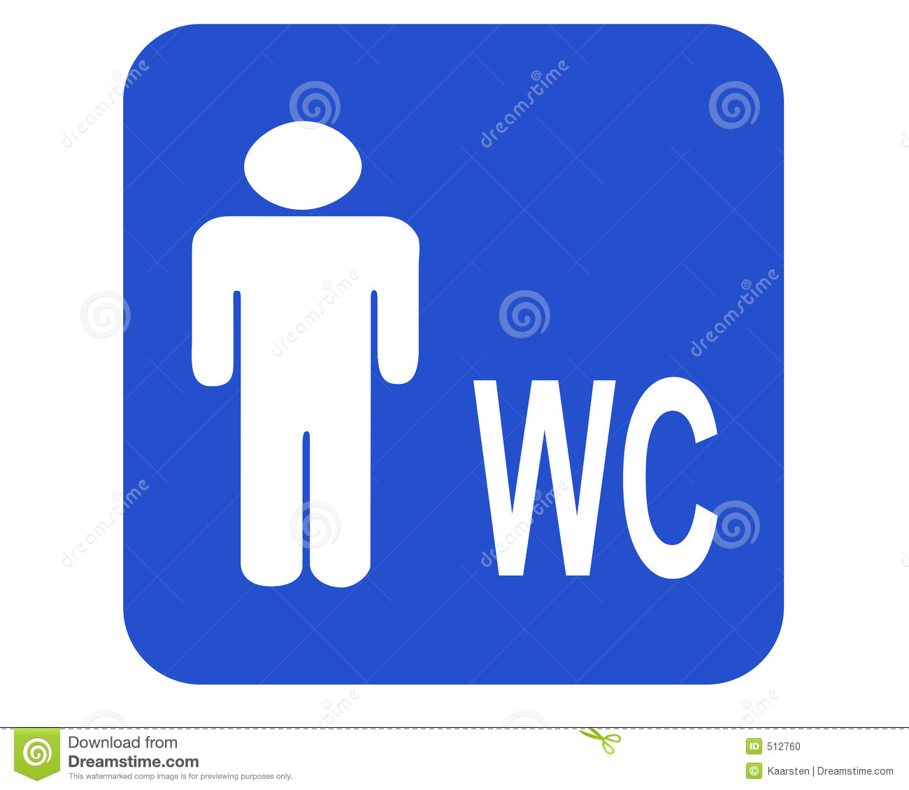 Male Wc Stock Illustration Illustration Of Male Porta 512760