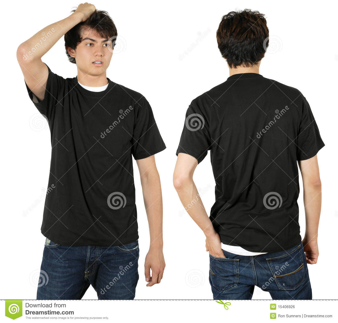 a45758f2 Male Wearing Blank Black Shirt Stock Photo - Image of clothes, teen ...