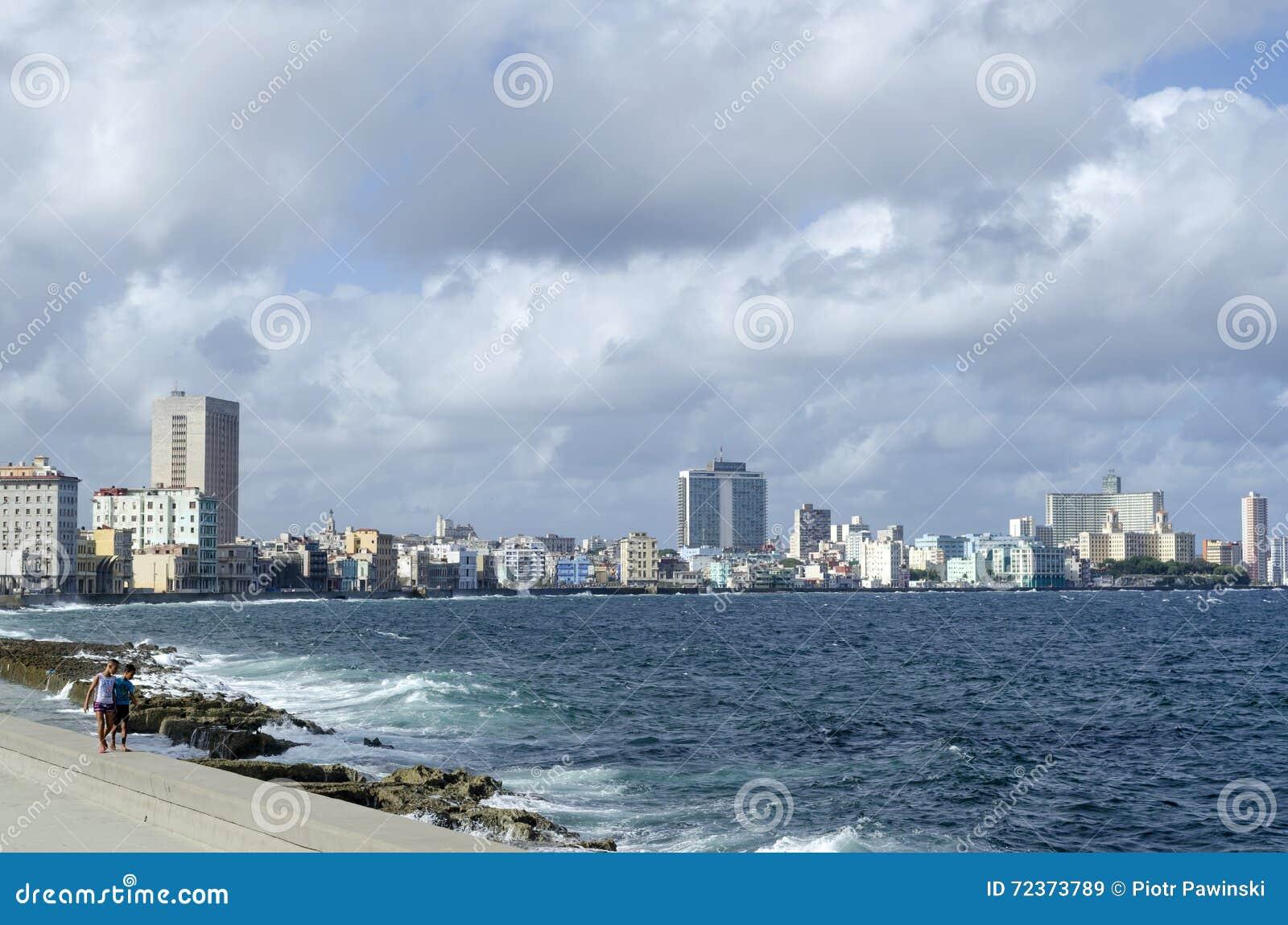 Malecon散步,著名地方在哈瓦那