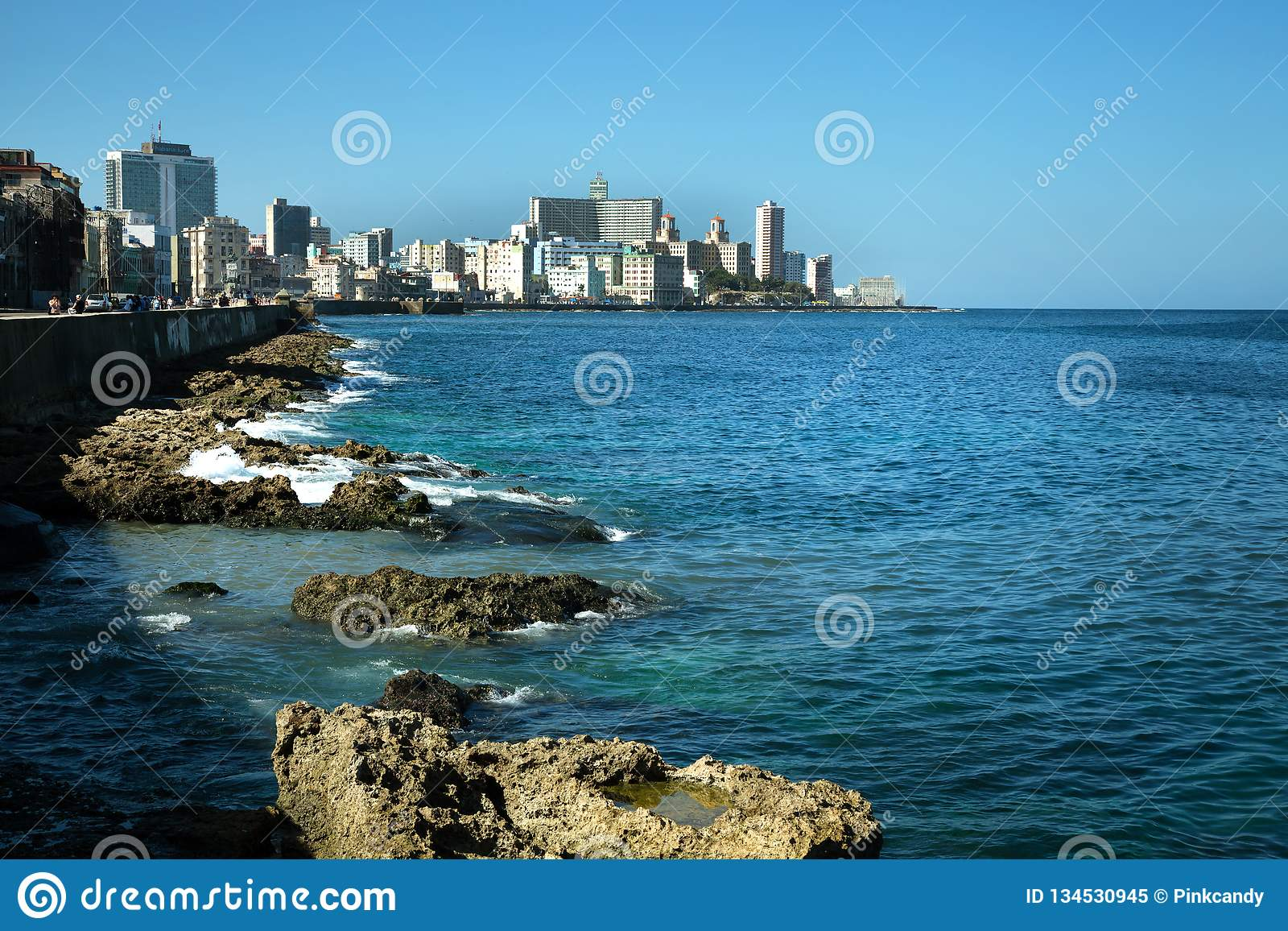 Malecon in Havana in Kuba