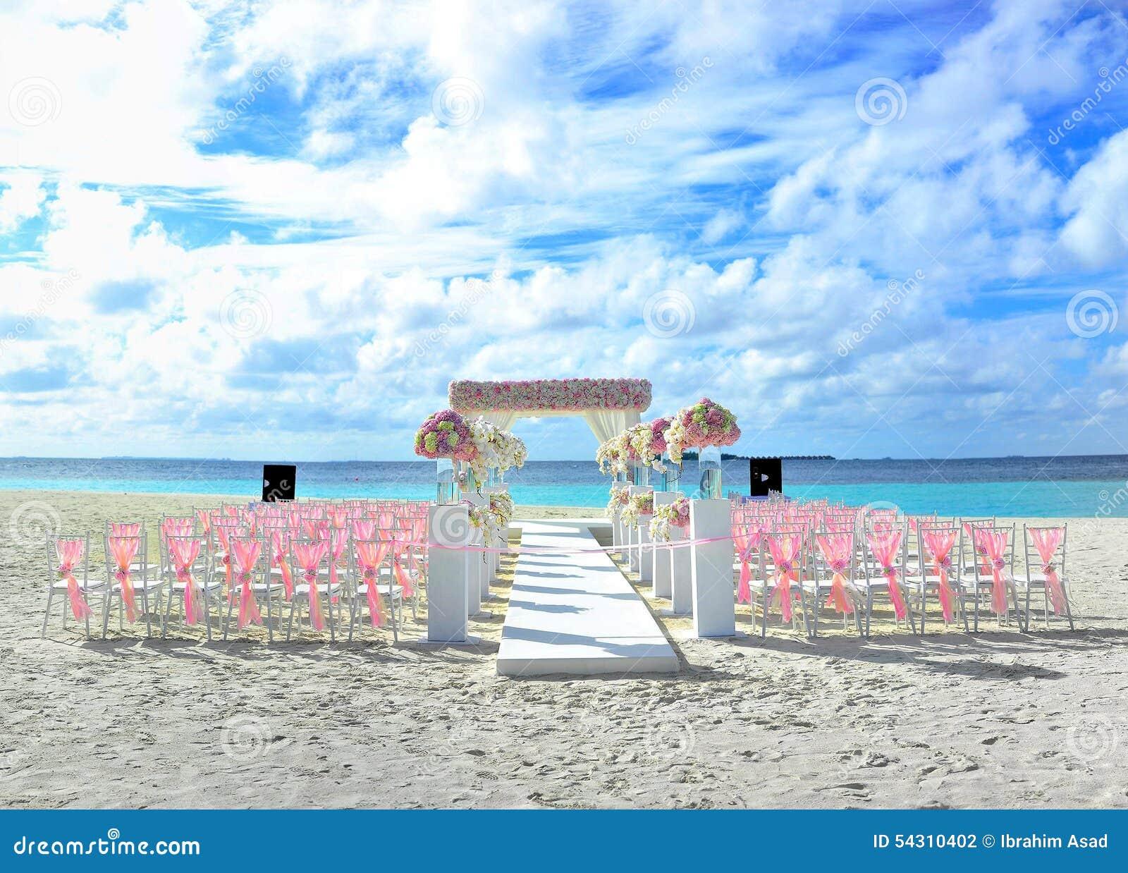 Malediven Bestimmungsort Strand Hochzeit Stockfoto Bild Von