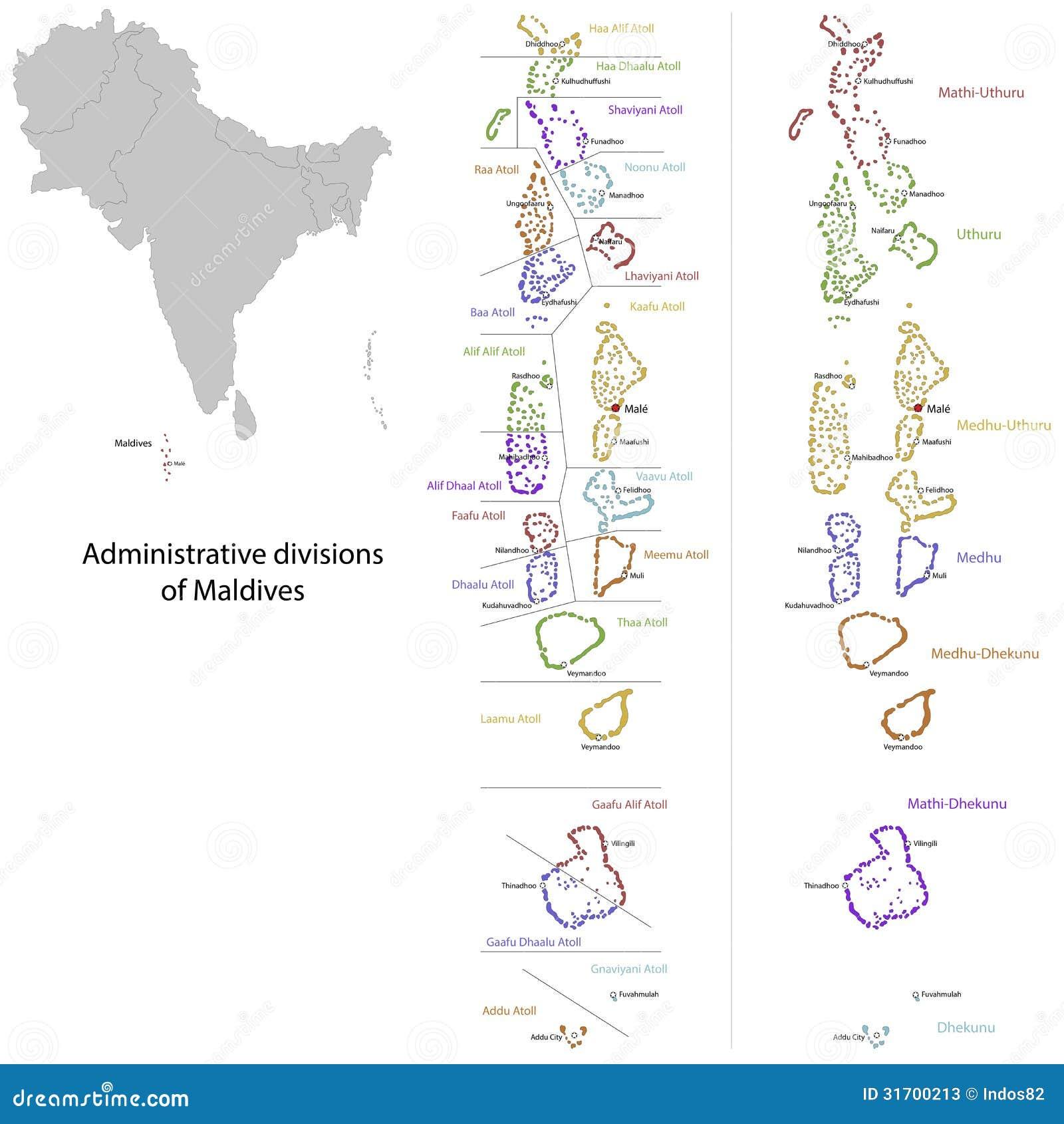 Malediven Karte Vektor Abbildung Illustration Von Abteilung