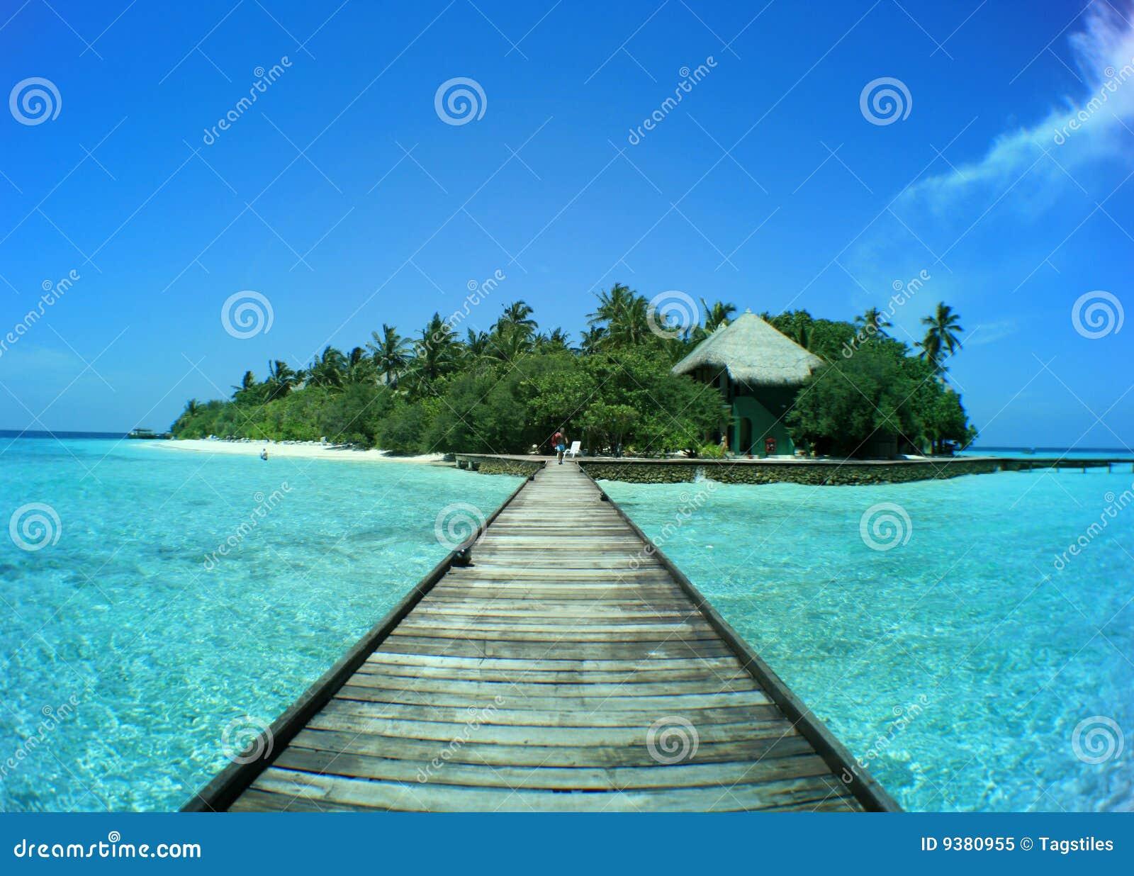 Download Maledivische Insel Rannalhi Stockbild - Bild von snorkeling, schatten: 9380955