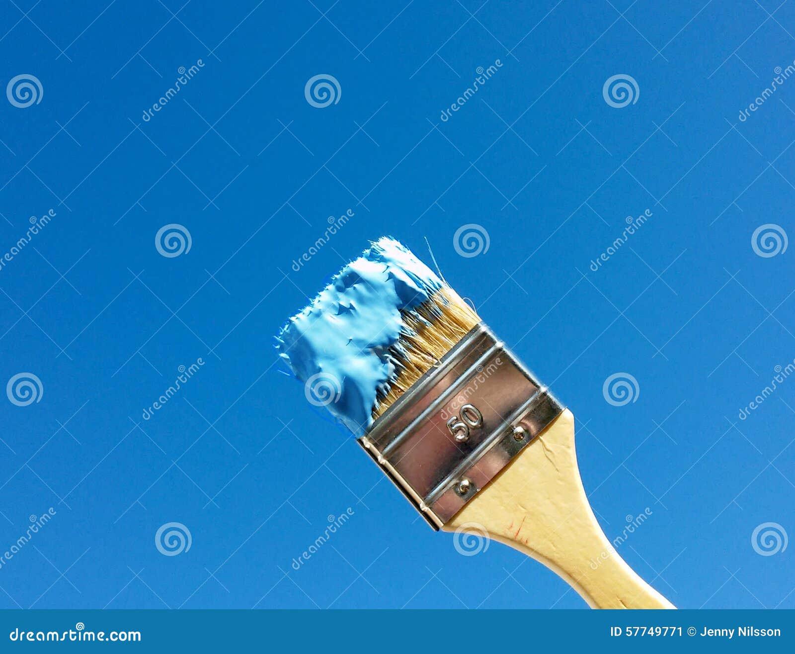Malen des Himmel-Blaus