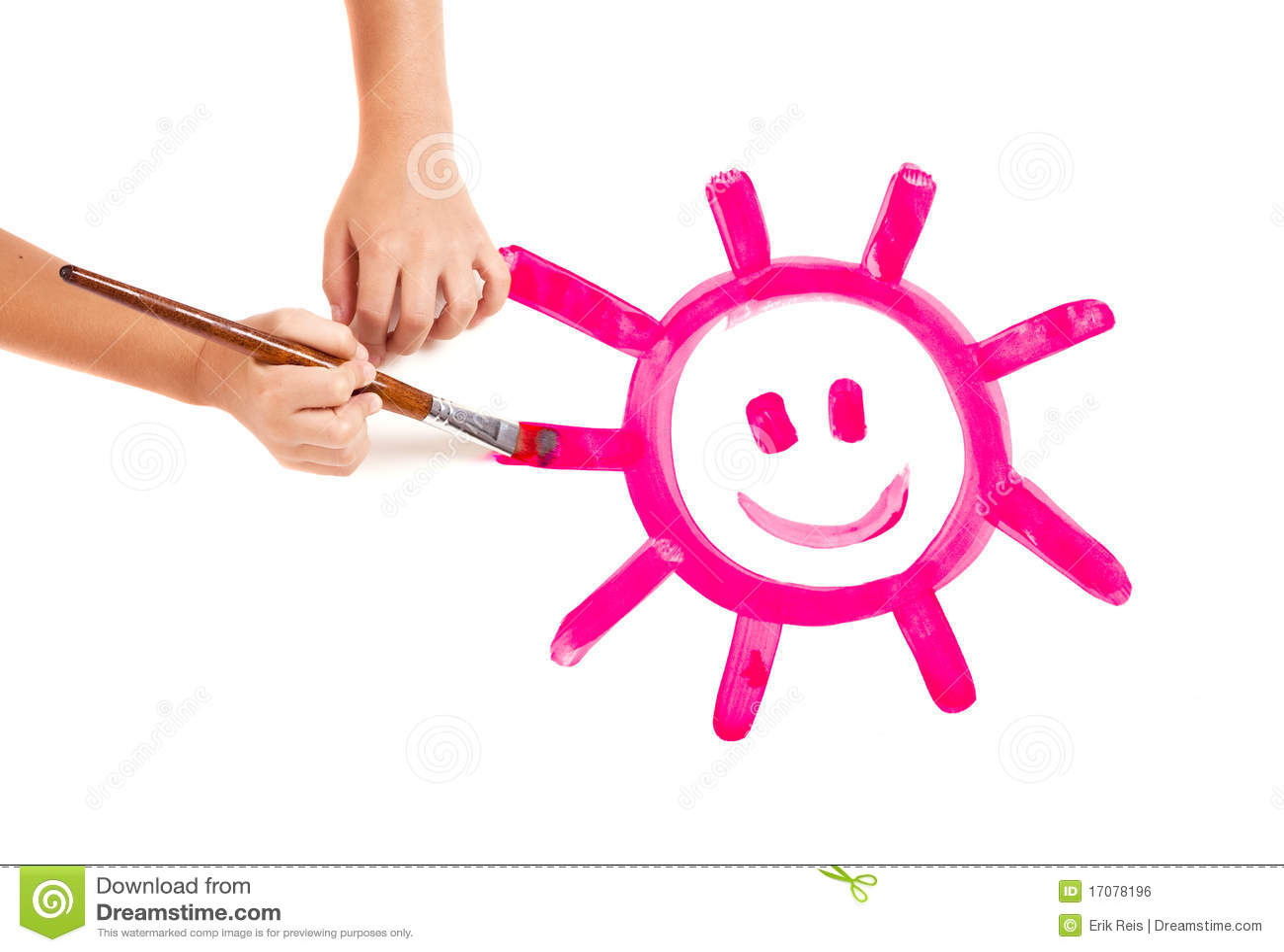 Malen einer glücklichen Sonne