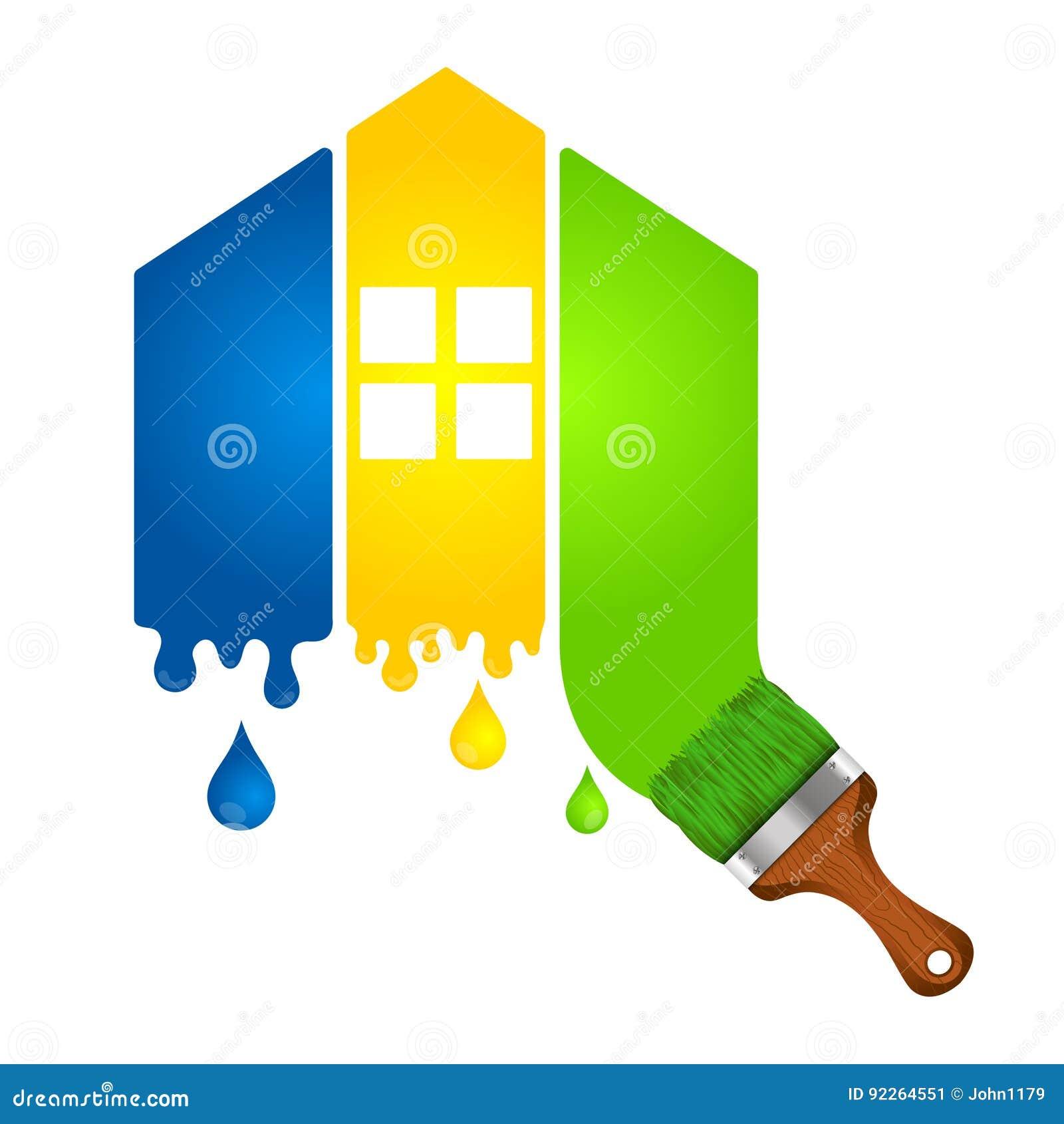 Malen Eines Hauses Für Geschäft Vektor Abbildung - Illustration von ...