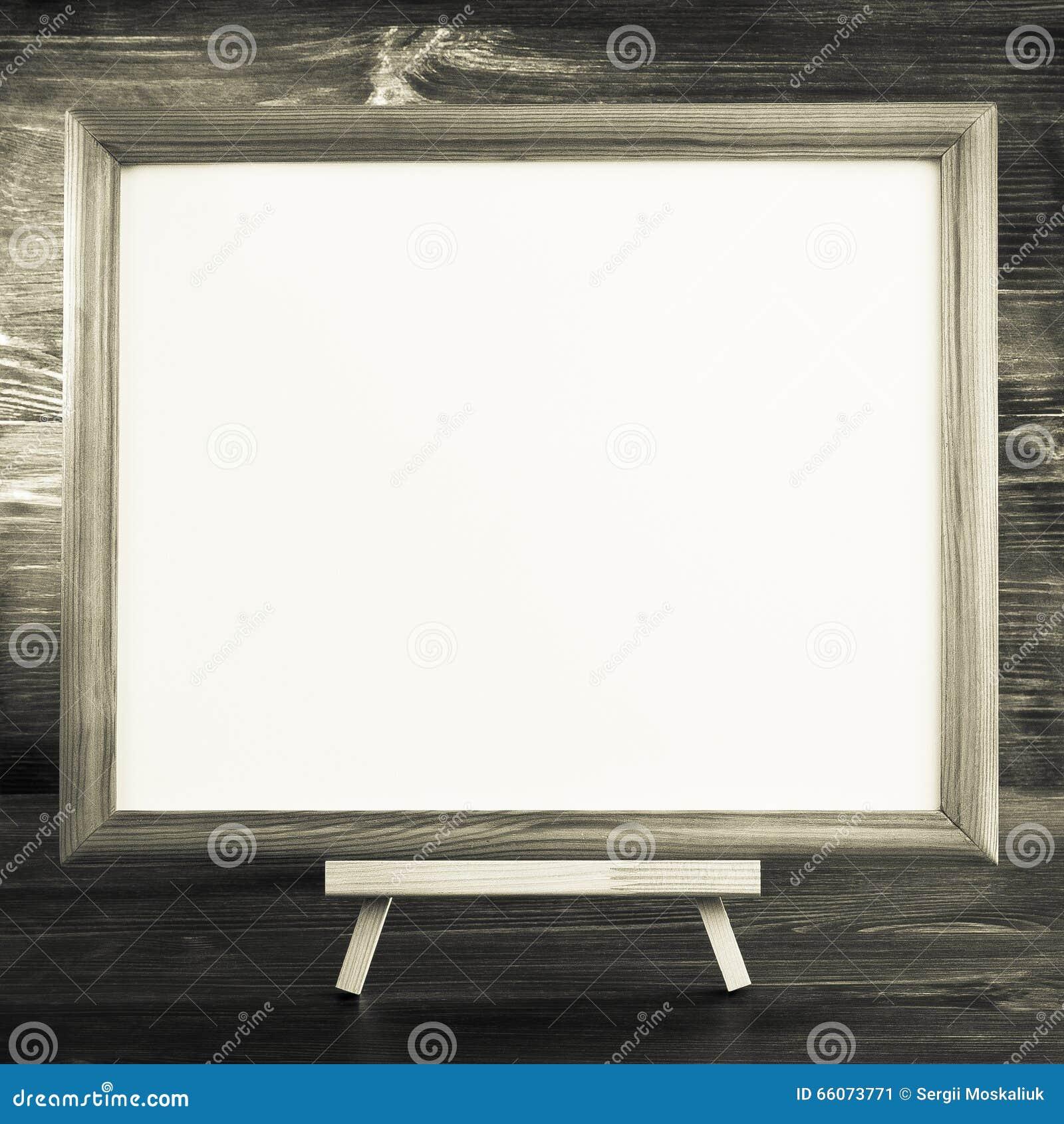 Malen Sie Rahmen Auf Holz Stockbild Bild Von Foto Feld 66073771