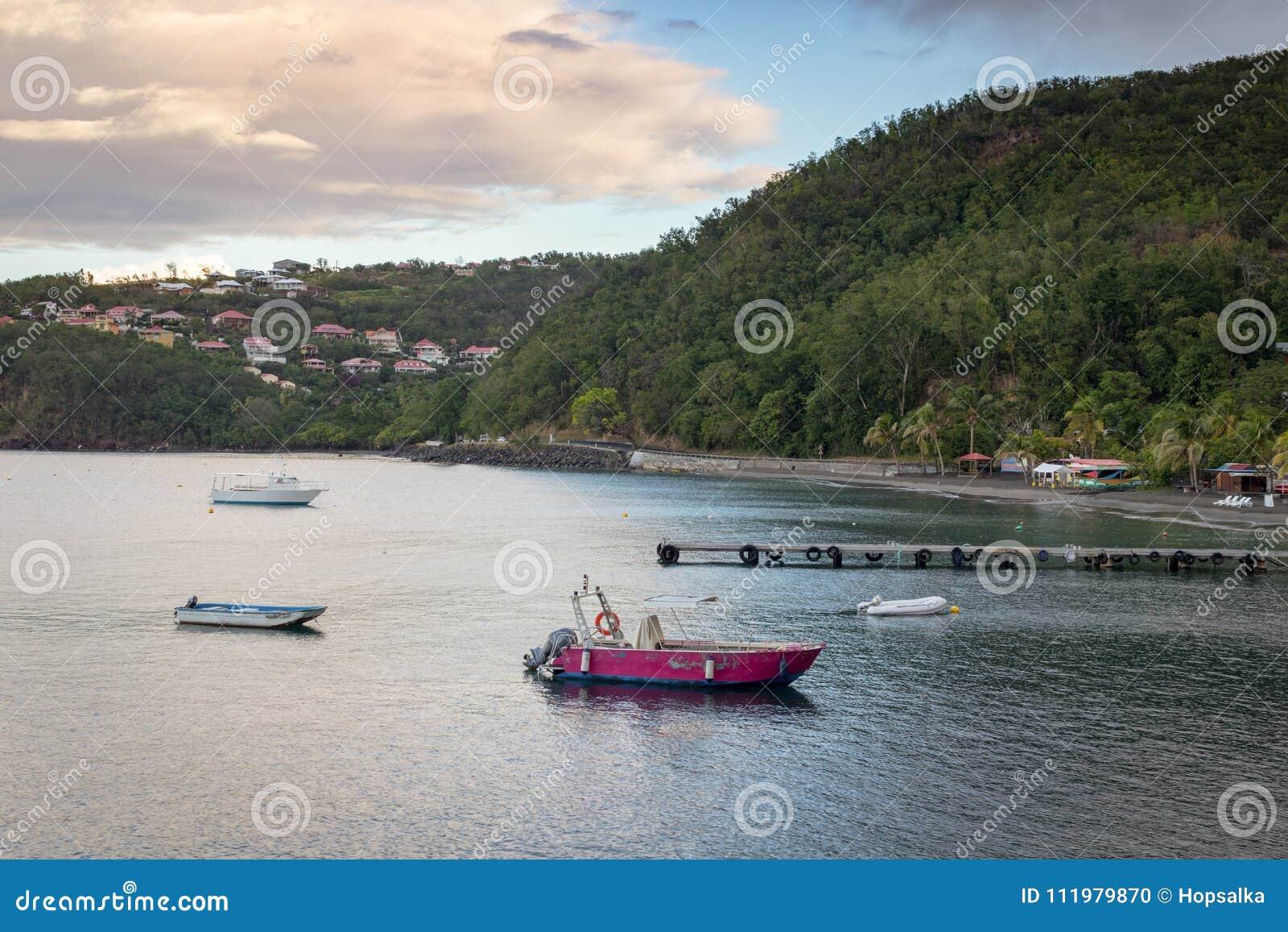Malendurestrand in Caraïbisch Guadeloupe,