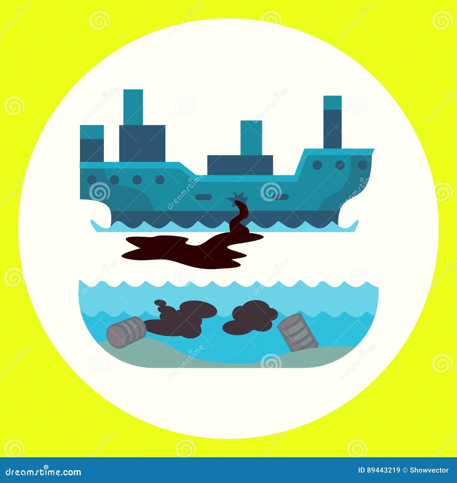 Maler miljö- olje- förorening för ekologiska problem av förstörelse för skogsavverkning för vattenjordluft av djur fabriker