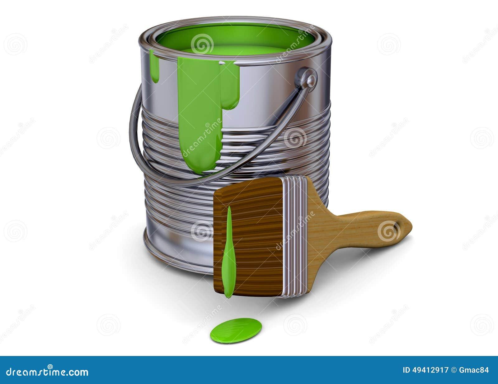 Download Malerei-Werkzeug - 3D stock abbildung. Illustration von geschäft - 49412917