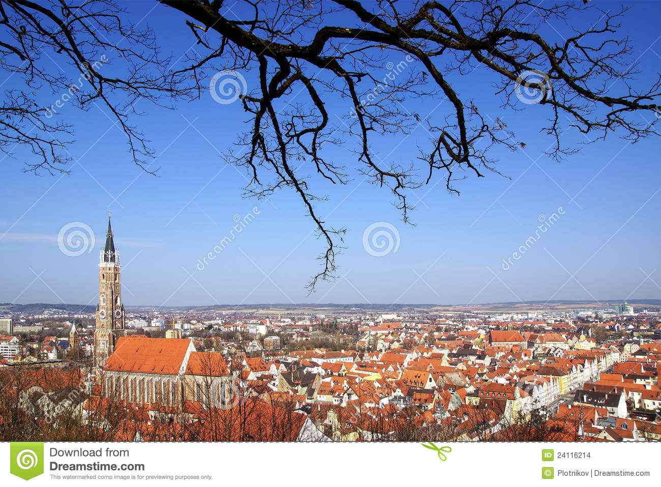 malerisches panorama von landshut deutschland stockbilder bild 24116214. Black Bedroom Furniture Sets. Home Design Ideas