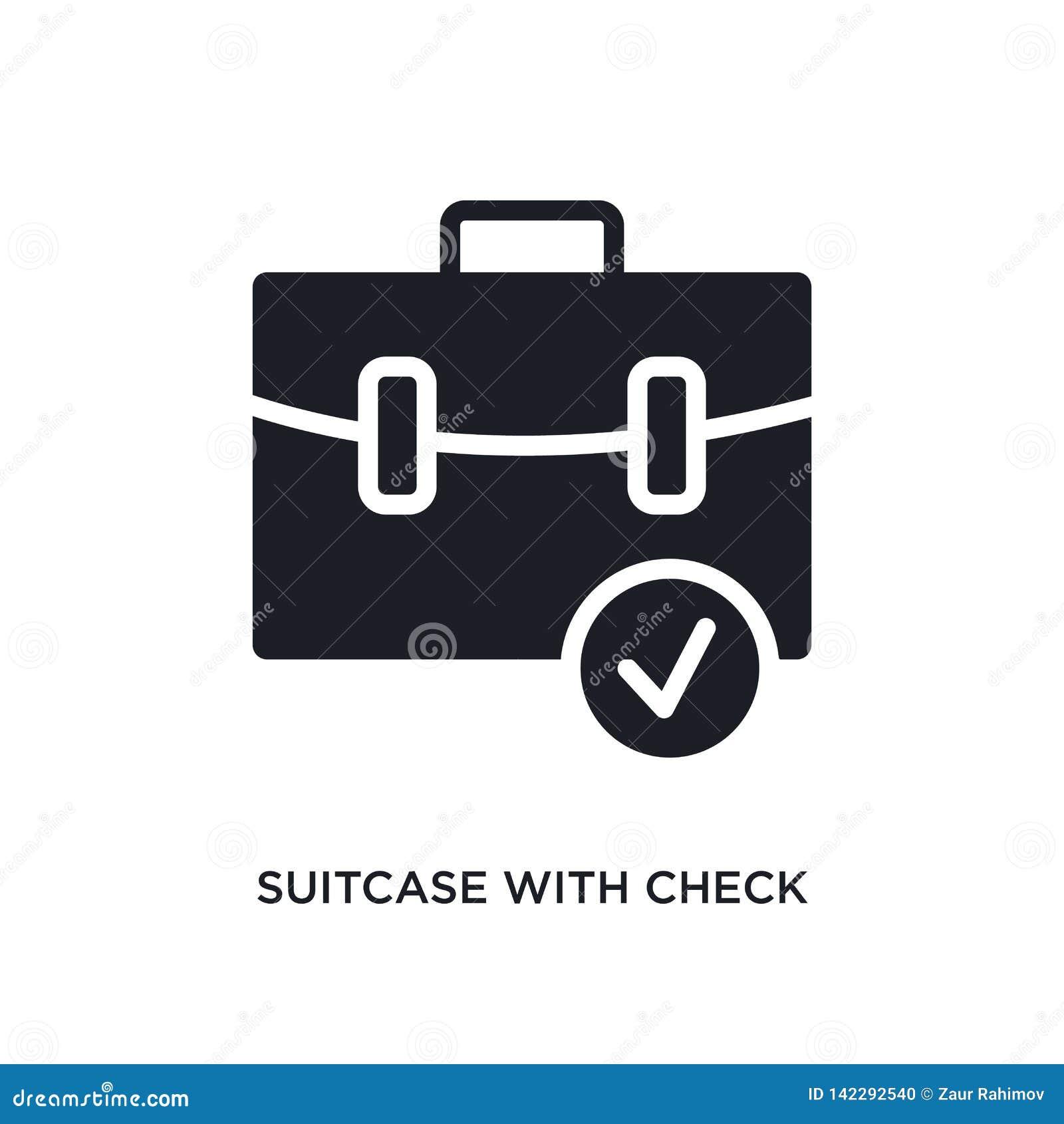Maleta con el icono aislado control ejemplo simple del elemento de últimos iconos del concepto de los glyphicons maleta con el co