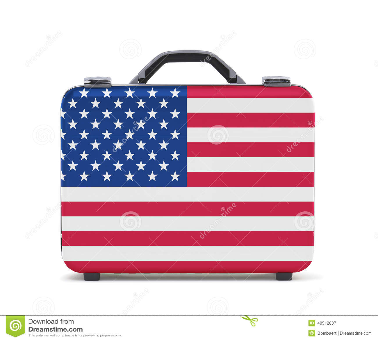 Maleta del negocio para el viaje con la bandera de los e e u u imagen de archivo imagen de - Banera de viaje ...