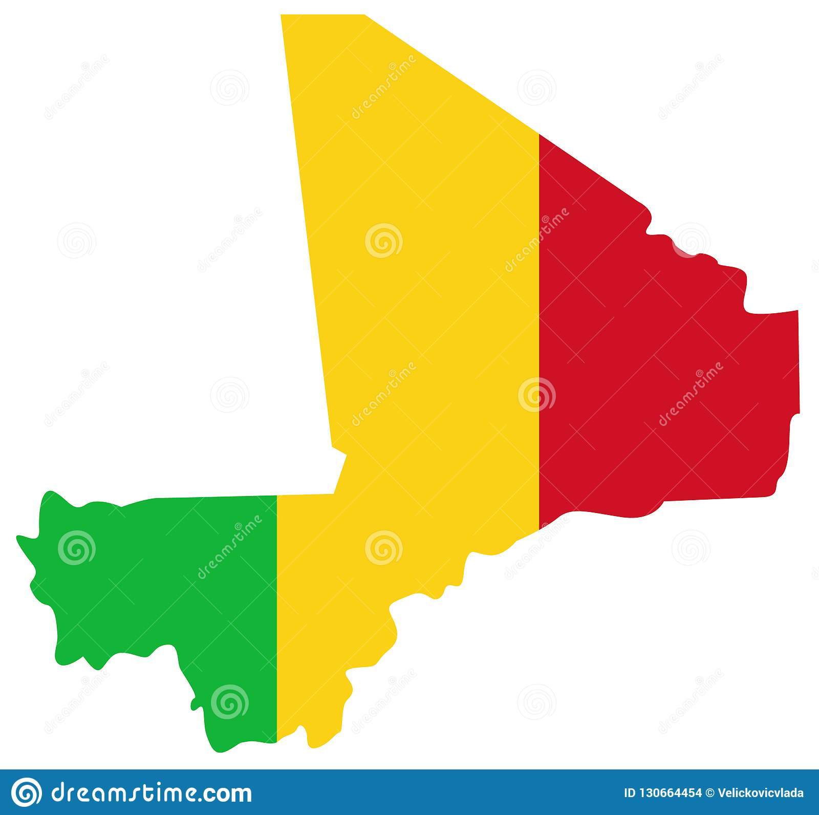 Mali Flag And Map - Country In West Africa Stock Vector ...