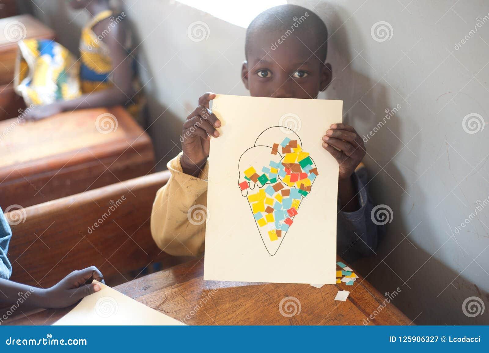 Mali - zbliżenia męski czarny uczeń portret