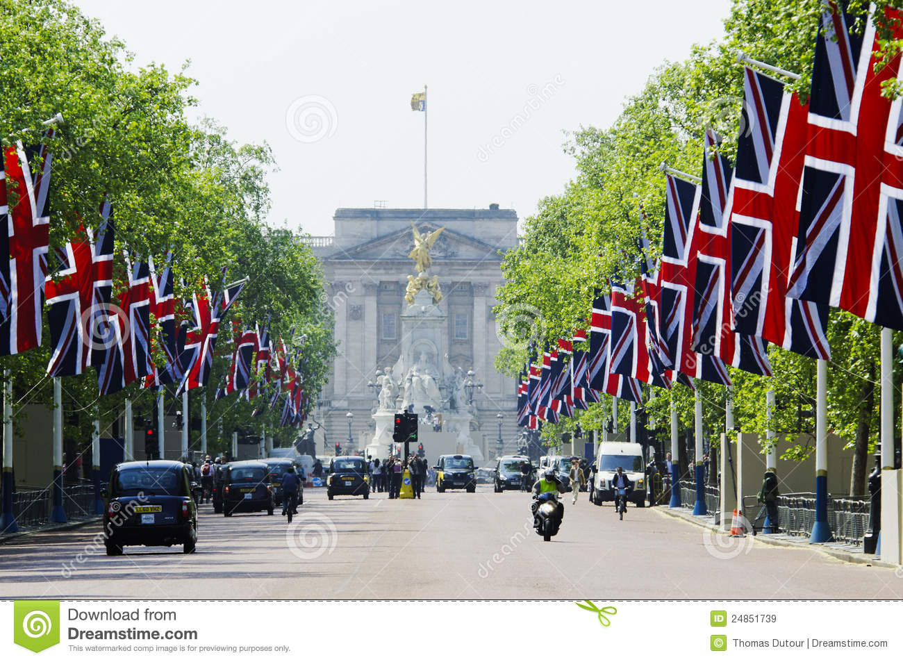 The Mall decorated with Union Jack flags