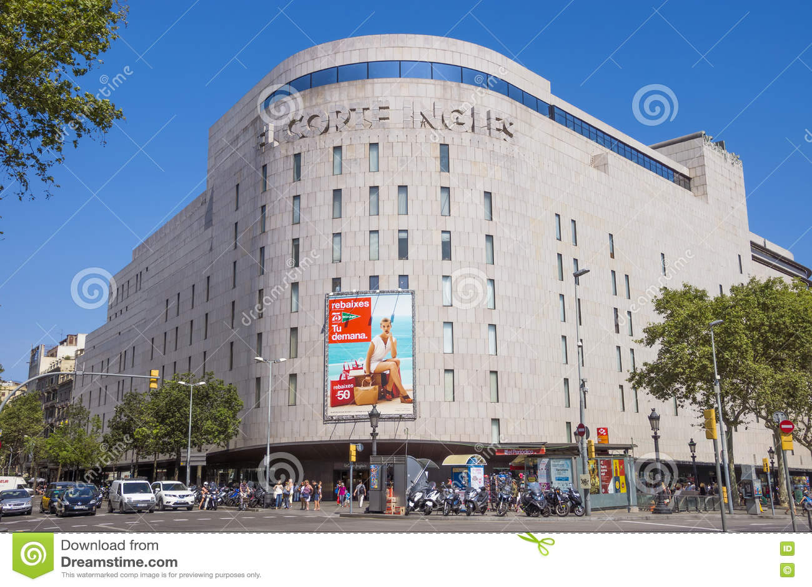 The mall el corte ingles barcelona editorial image - El corte ingles plaza cataluna barcelona ...