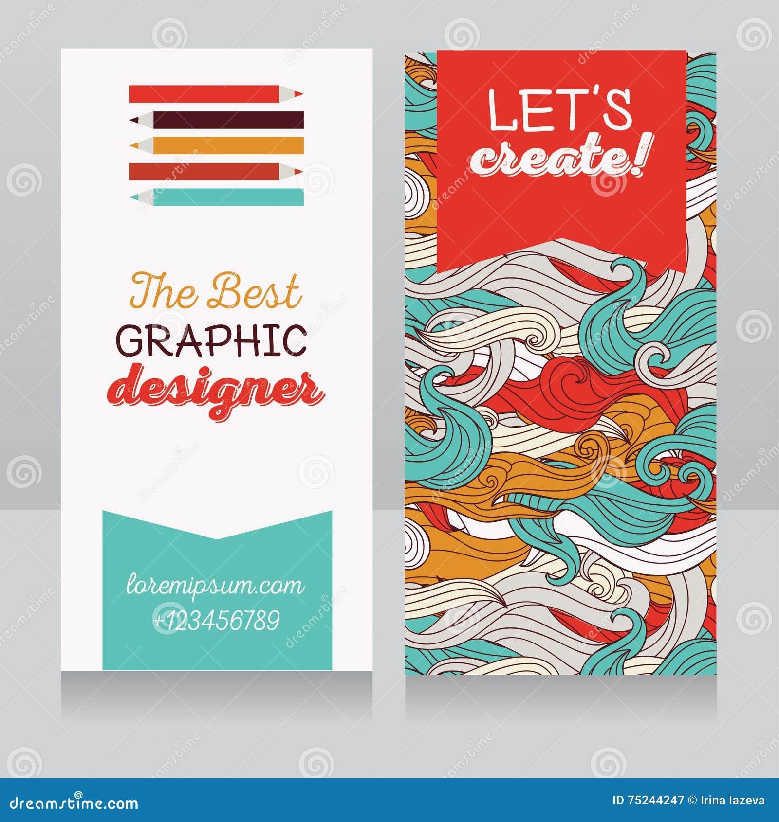 Mall för affärskort för grafisk formgivare eller för konstterapeut/konstgrupper