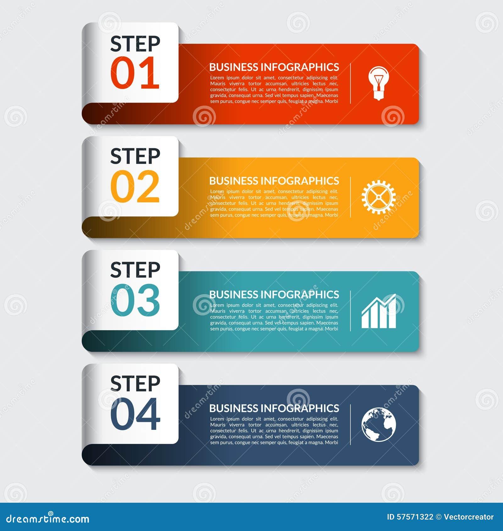 Mall för baner för Infographic designnummer Kan användas för affären, presentationen, rengöringsdukdesign