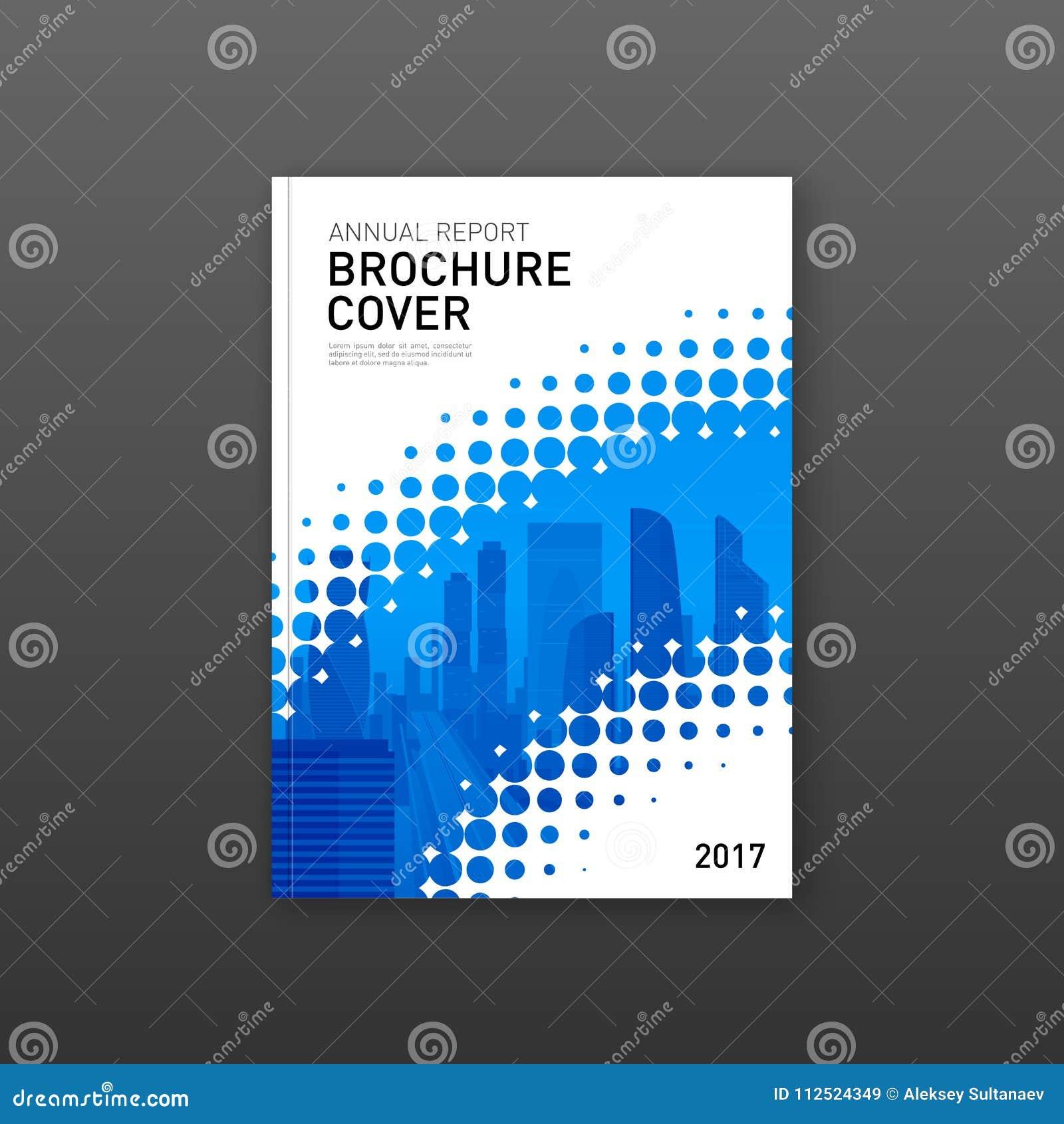 Mall för broschyrräkningsdesign för konstruktions- eller teknologiföretag