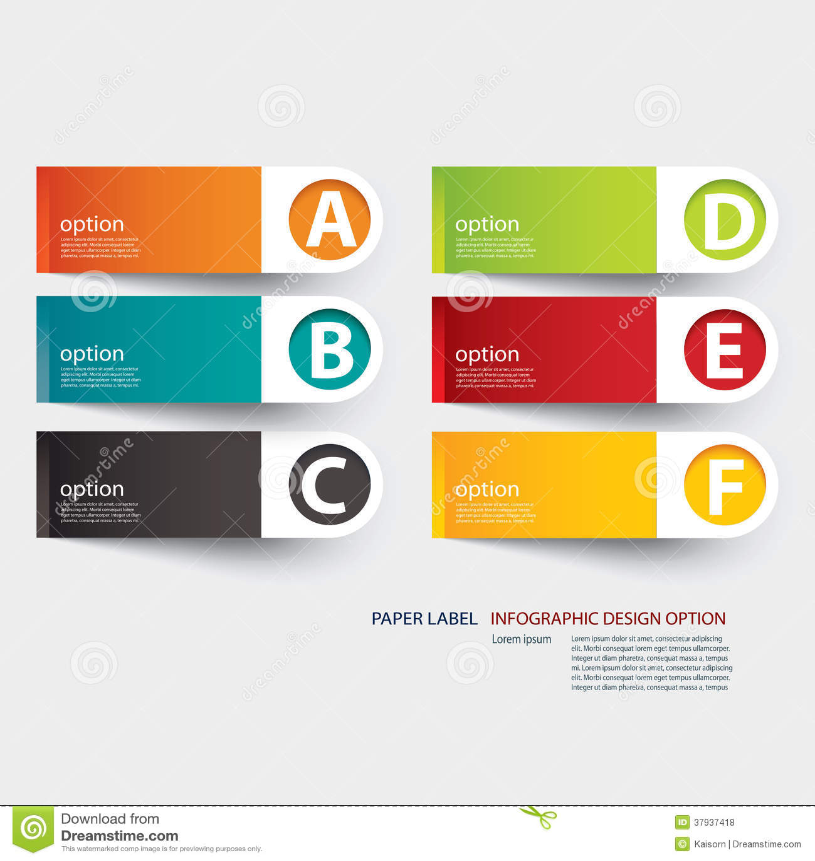 Mall för Infographic etikettflik
