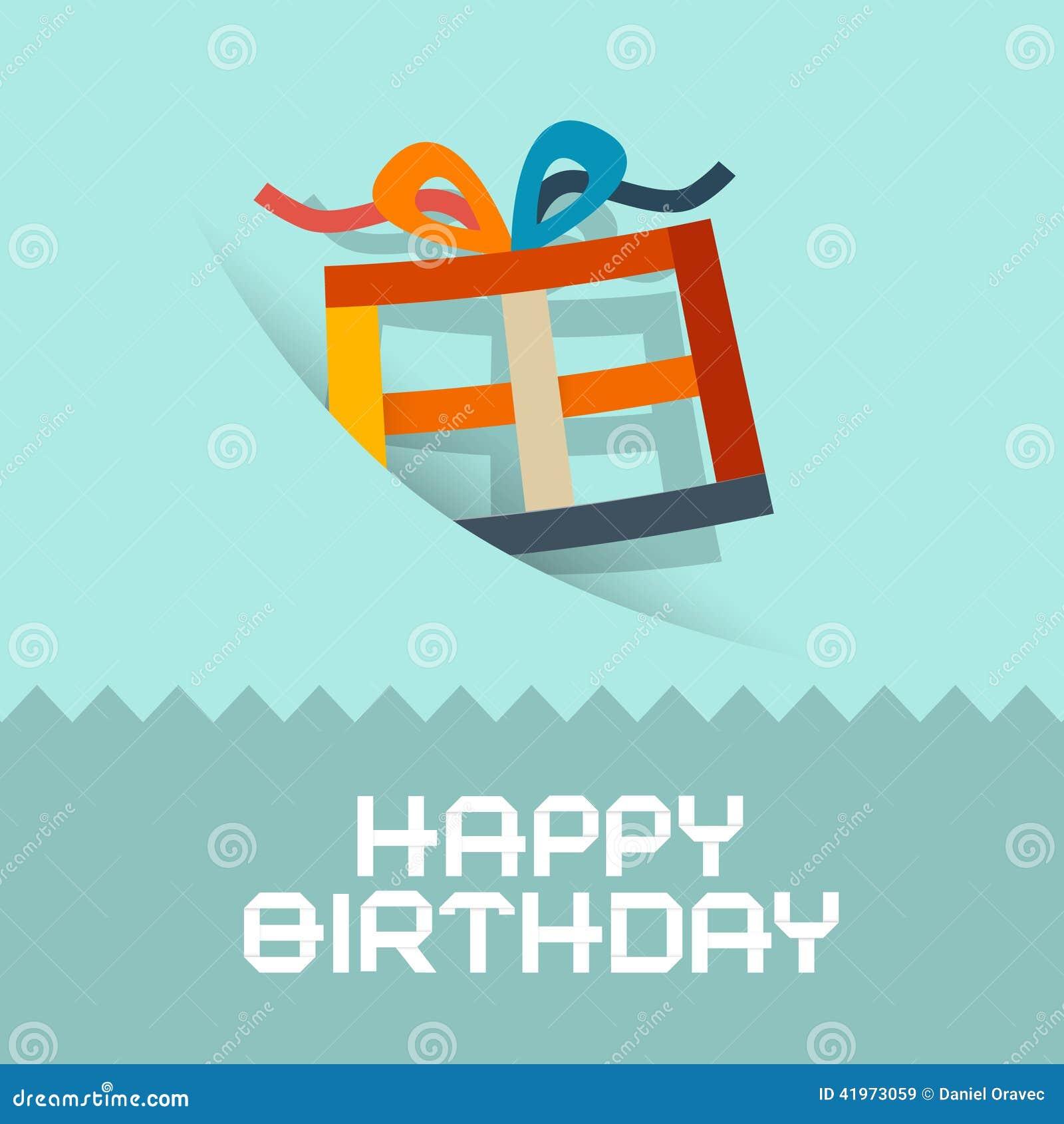 Mall för kort för lycklig födelsedag