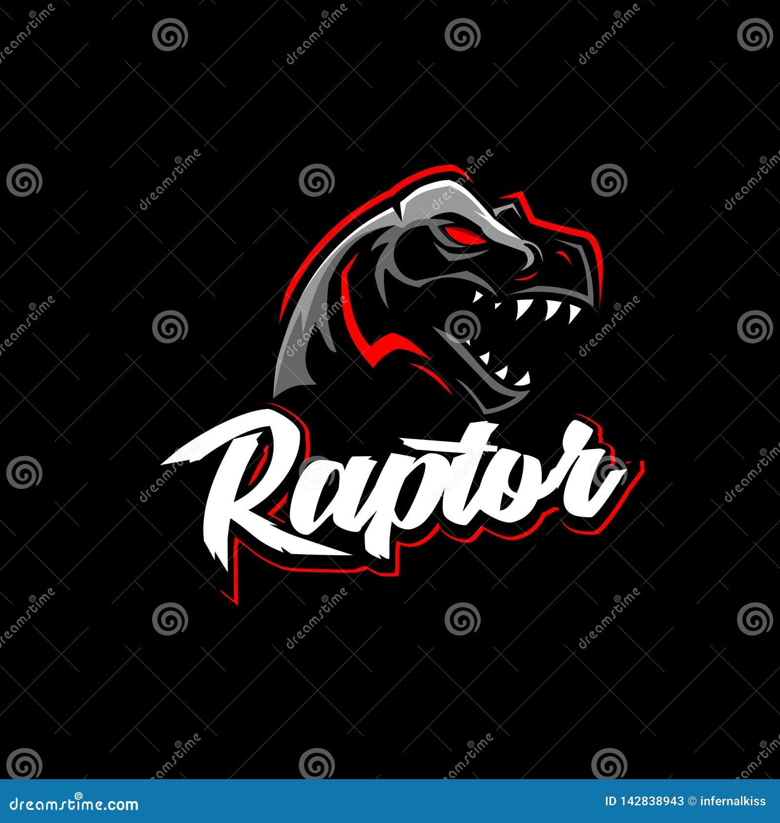 Mall för logo för rovfågeltyrannosarie- eller T-rex vektor