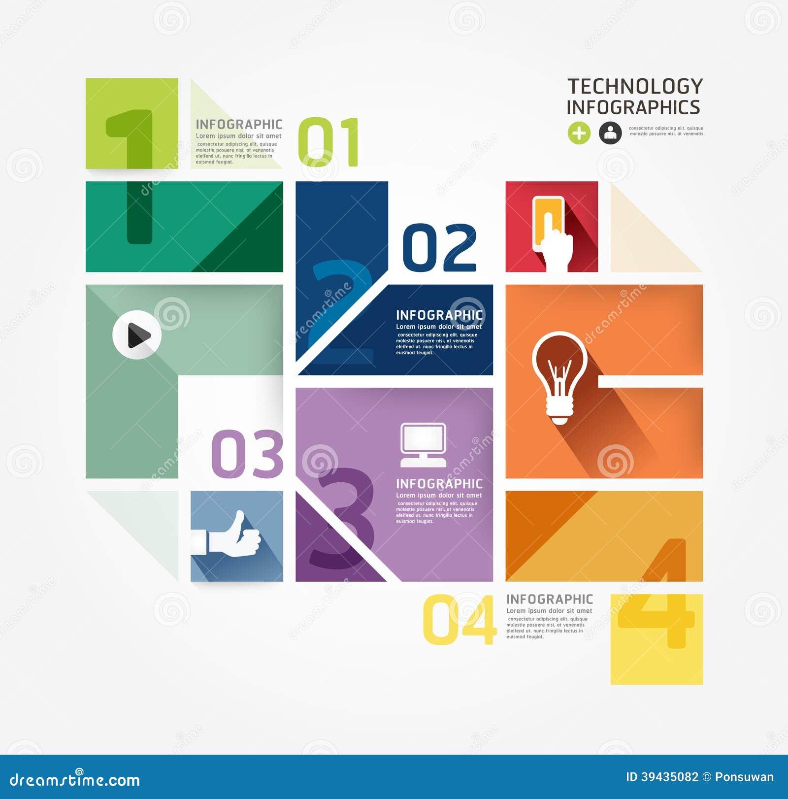 Mall för minsta stil för modern design infographic.